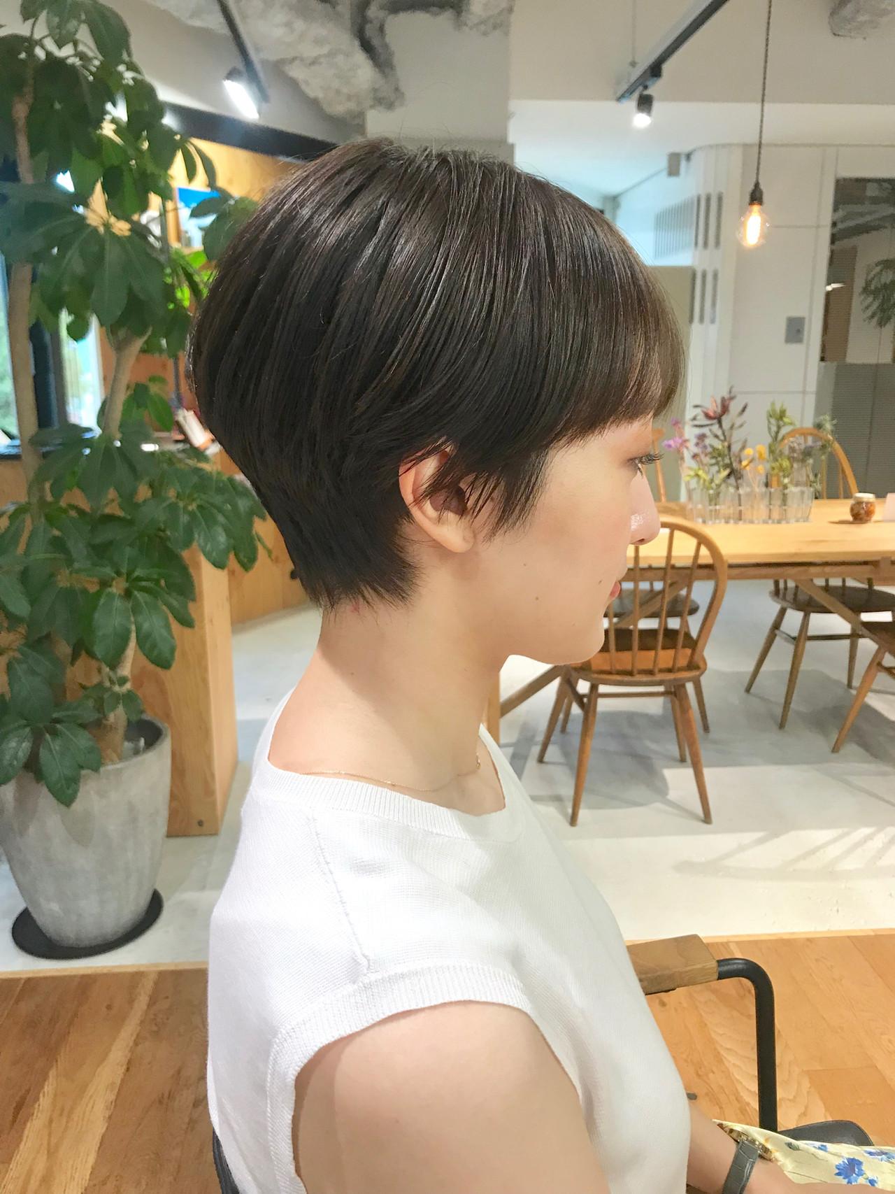 ショート ショートヘア ナチュラル ショートバング ヘアスタイルや髪型の写真・画像
