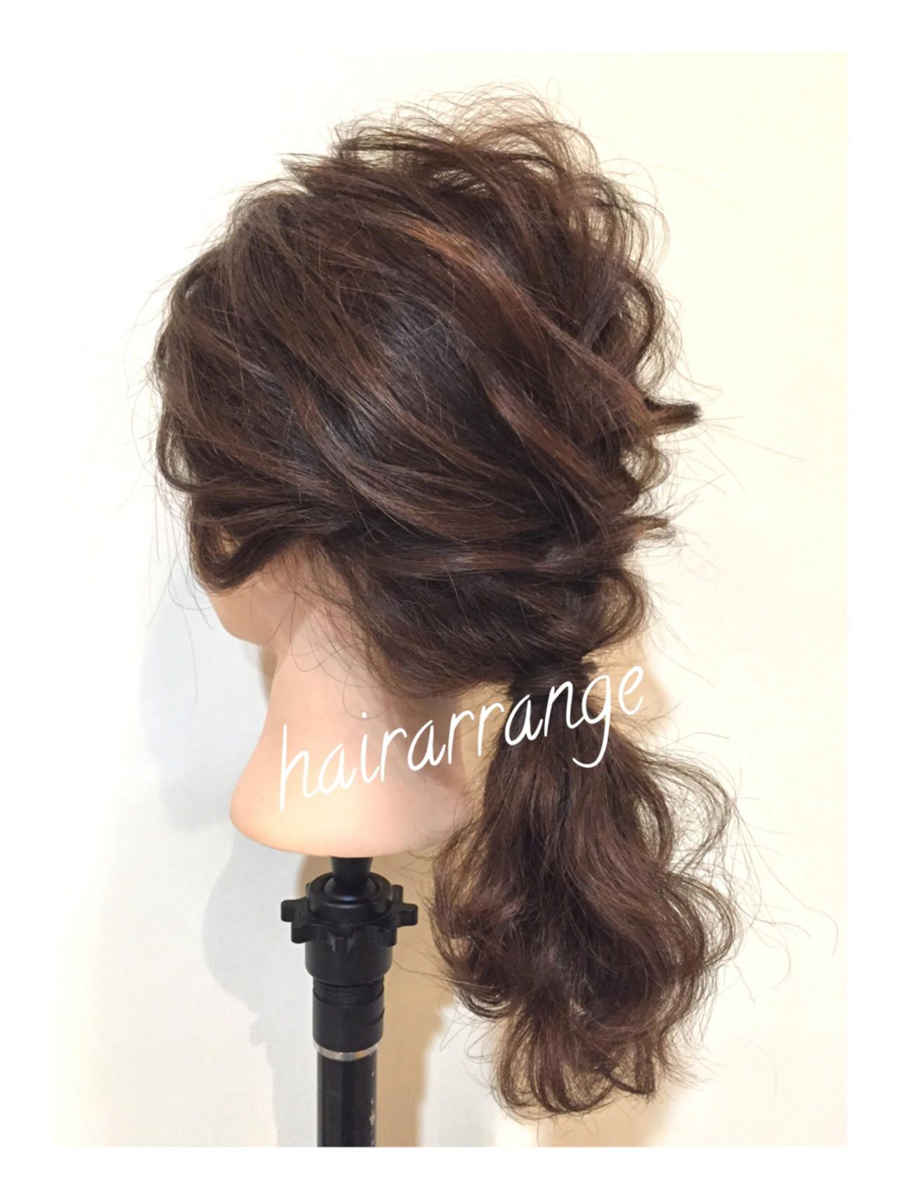 アンニュイ ヘアアレンジ ナチュラル ウェーブ ヘアスタイルや髪型の写真・画像