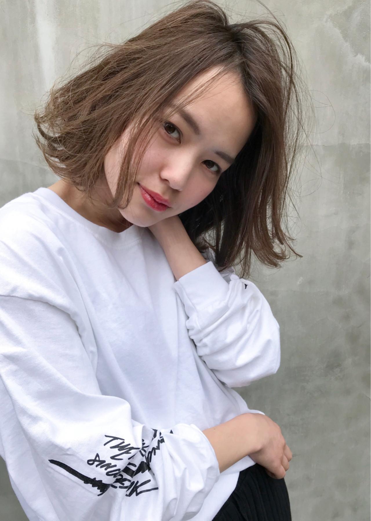 レイヤーカット ボブ ナチュラル ゆるふわ ヘアスタイルや髪型の写真・画像   Keiichi Suzuki/鈴木圭一 / CALVINA&LOWE