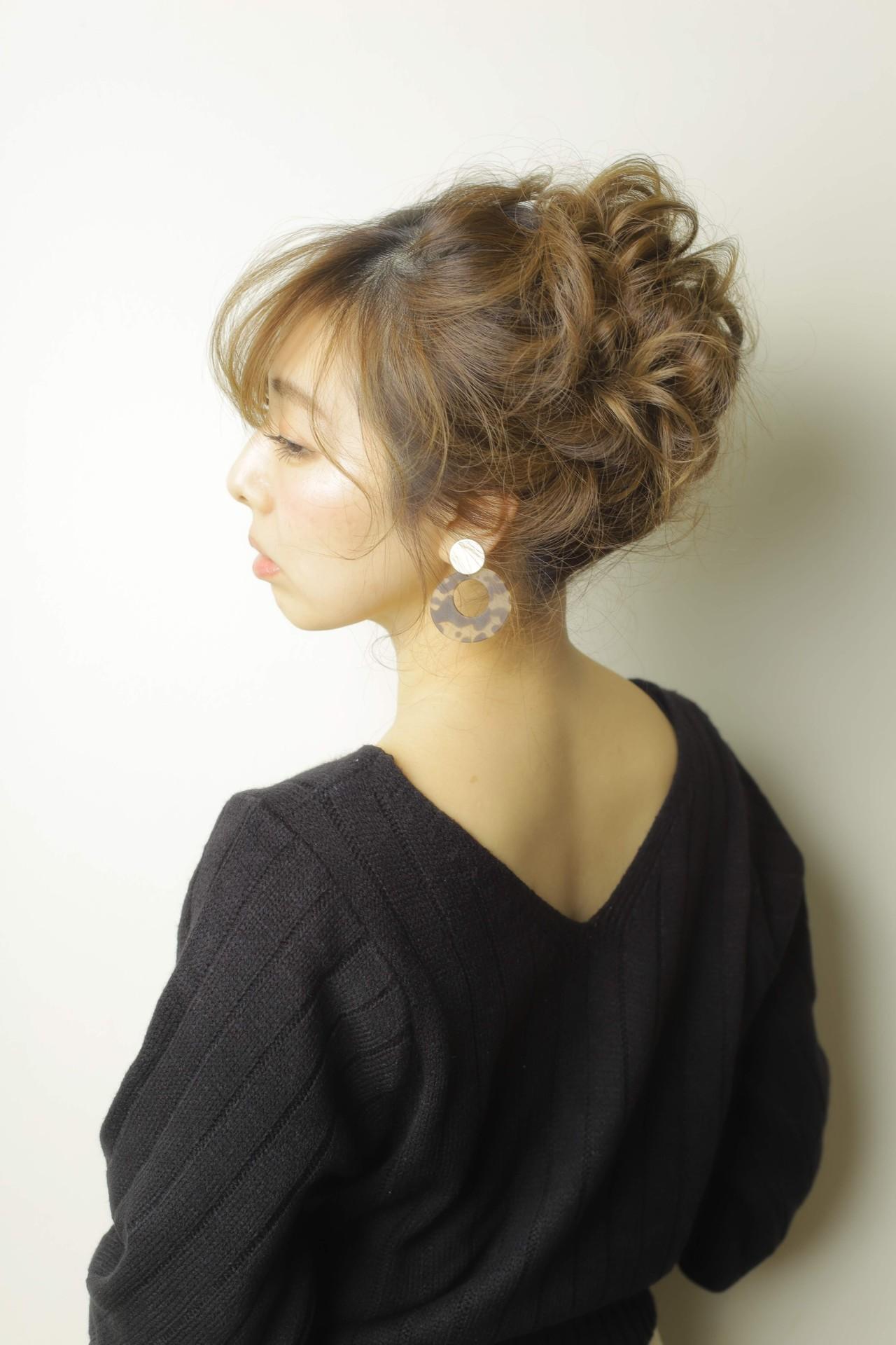 アップスタイル ヘアアレンジ ロング 簡単ヘアアレンジ ヘアスタイルや髪型の写真・画像 | 山内雅淳 STARBERRY / Starberry 逗子店
