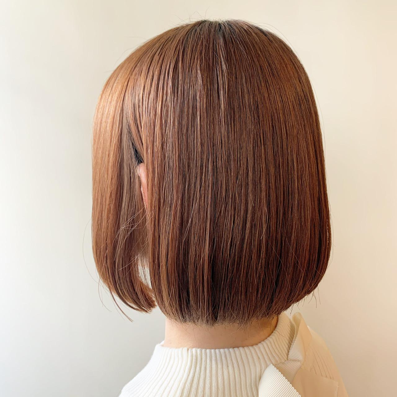 ボブ 切りっぱなしボブ ミニボブ まとまるボブ ヘアスタイルや髪型の写真・画像 | 谷川 健太 / ROVERSI
