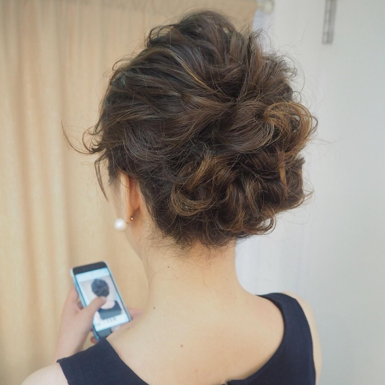 簡単ヘアアレンジ ゆるふわ 成人式 ウェーブ ヘアスタイルや髪型の写真・画像 | 宮迫 真美 / airfeel