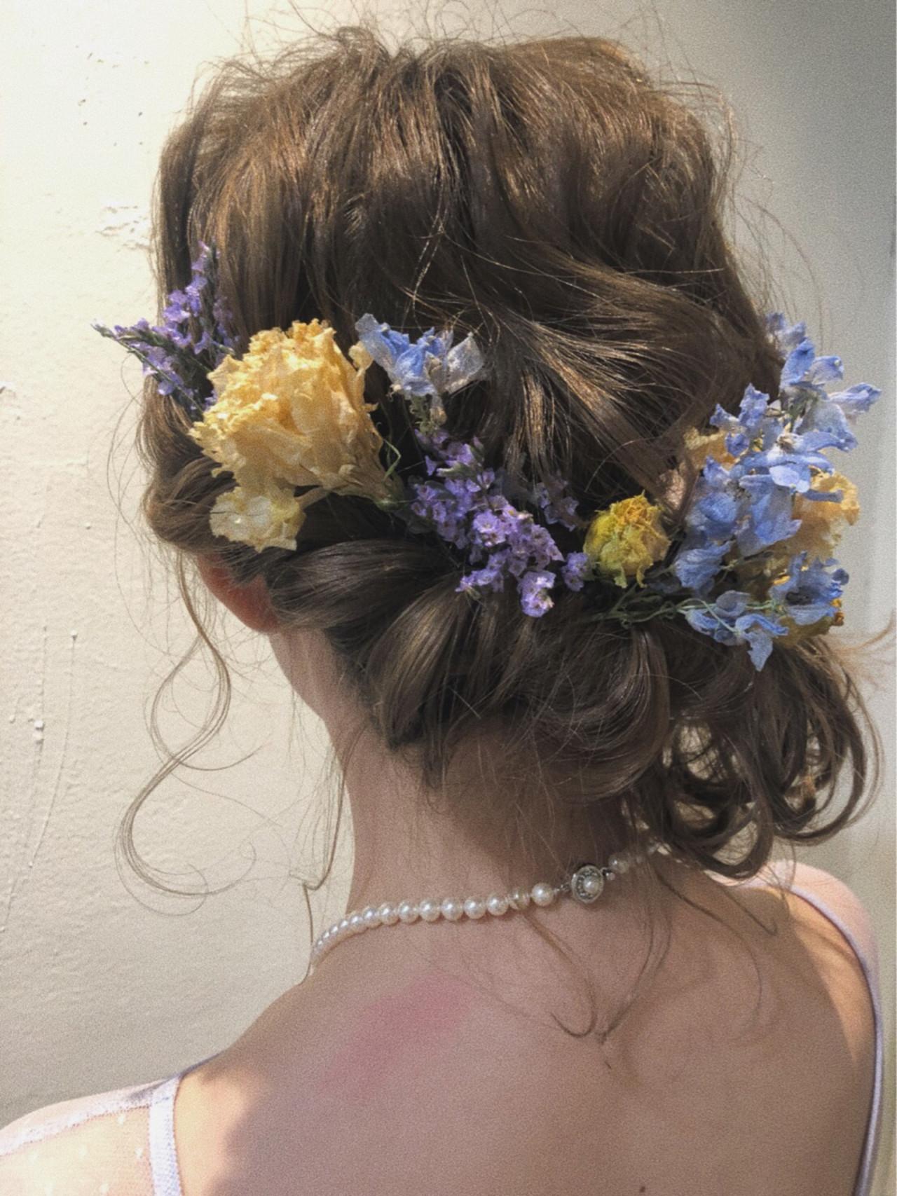 ガーリー ボブ ブライダル ヘアアレンジ ヘアスタイルや髪型の写真・画像 | 中川芽衣 / noi