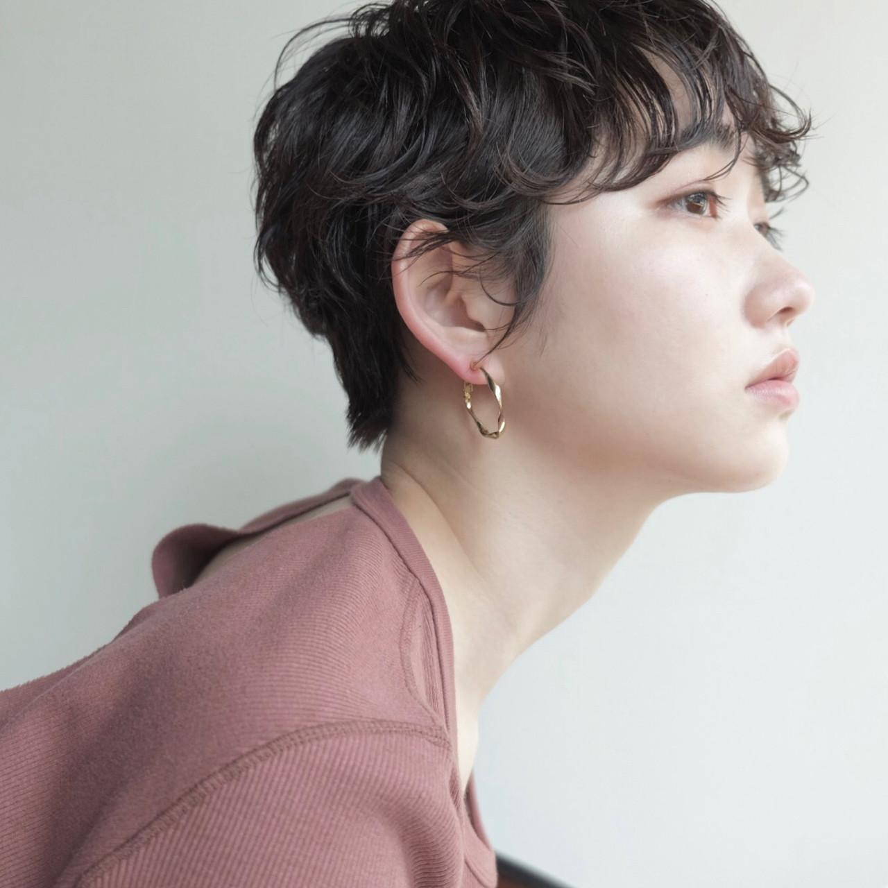 ナチュラル ショート 前髪あり くせ毛風 ヘアスタイルや髪型の写真・画像 | 高橋 忍 / nanuk渋谷店(ナヌーク)