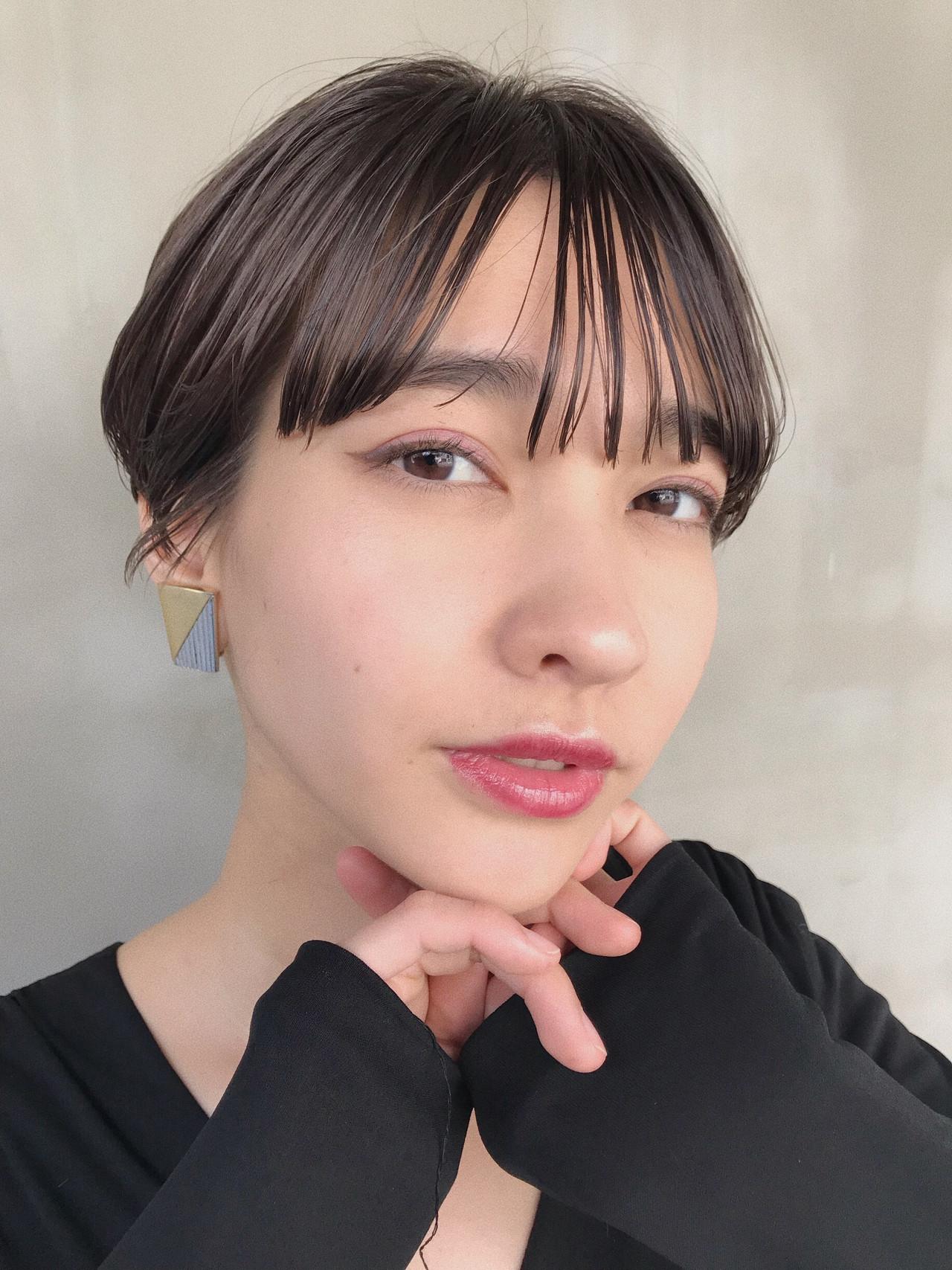 黒髪 ハンサムショート ショート モード ヘアスタイルや髪型の写真・画像 | 小西敬二郎 / Heartim