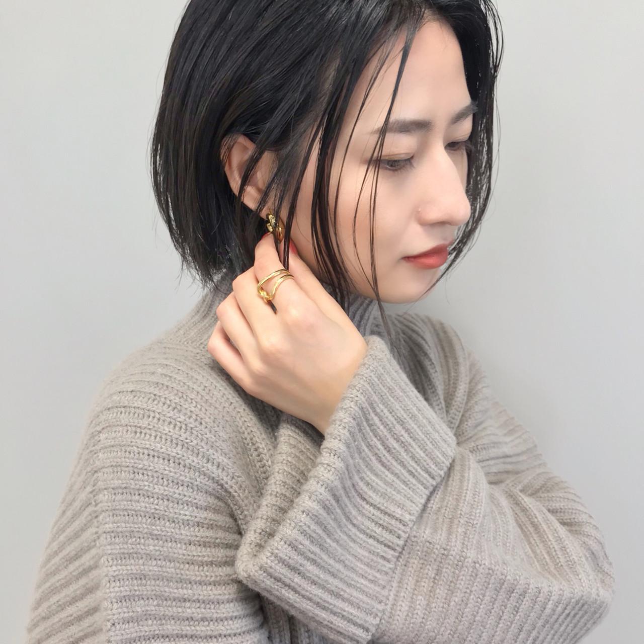 大人女子 福岡市 ボブ ヘアカラー ヘアスタイルや髪型の写真・画像 | HARUNA / GO TODAY 福岡天神店