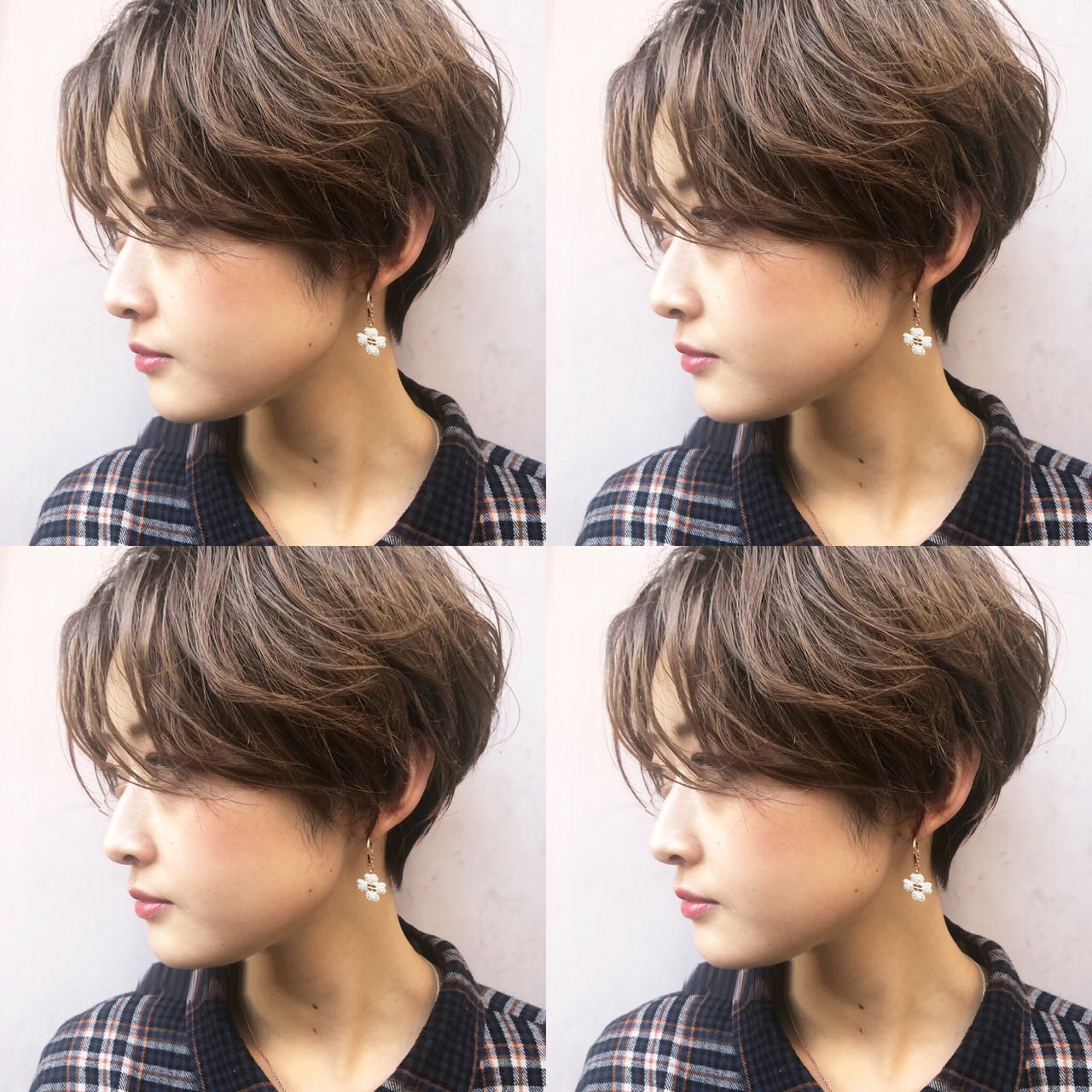 小顔ショート ショート 大人かわいい ナチュラル ヘアスタイルや髪型の写真・画像