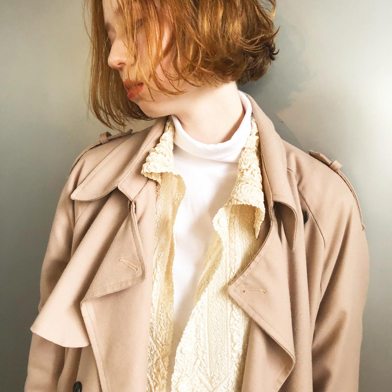 ダブルブリーチ ナチュラル ベージュ ナチュラルベージュ ヘアスタイルや髪型の写真・画像 | Suguru Komuro / Quown'   ( クオン )