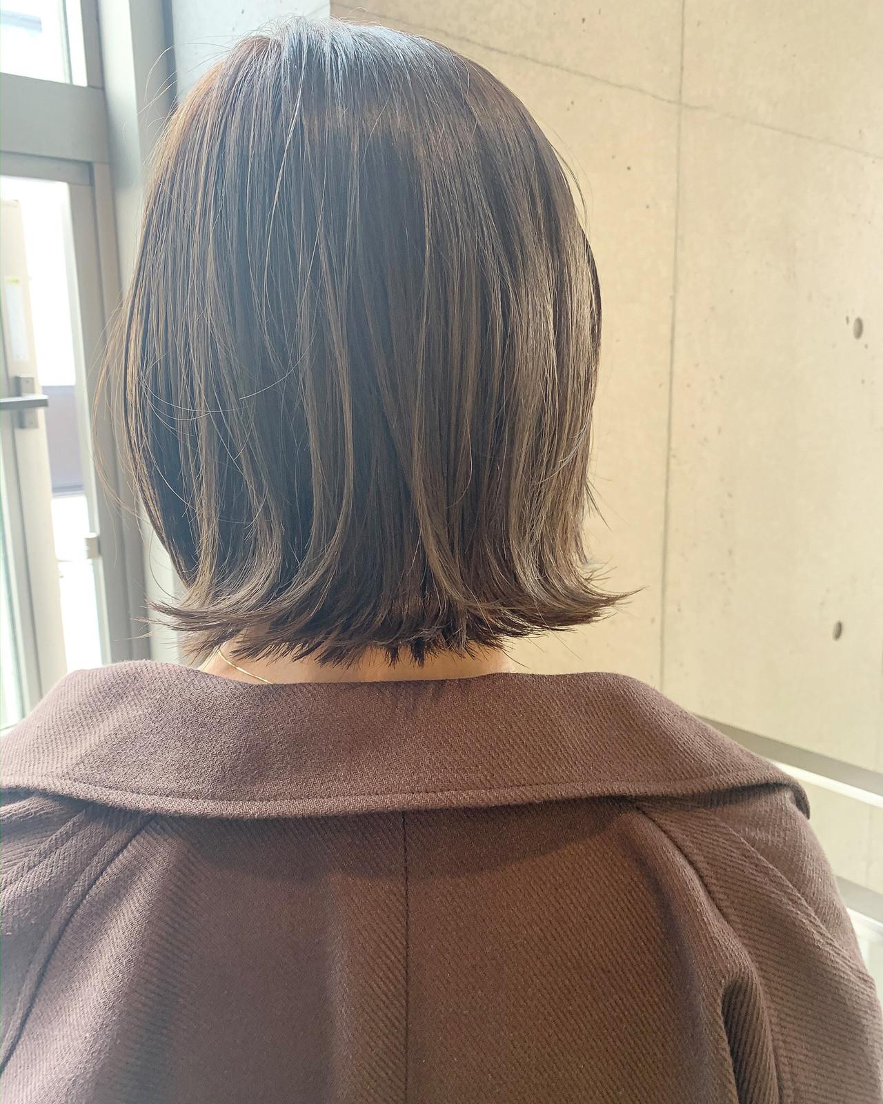 大人ヘアスタイル 大人カジュアル ナチュラル ミニボブ ヘアスタイルや髪型の写真・画像