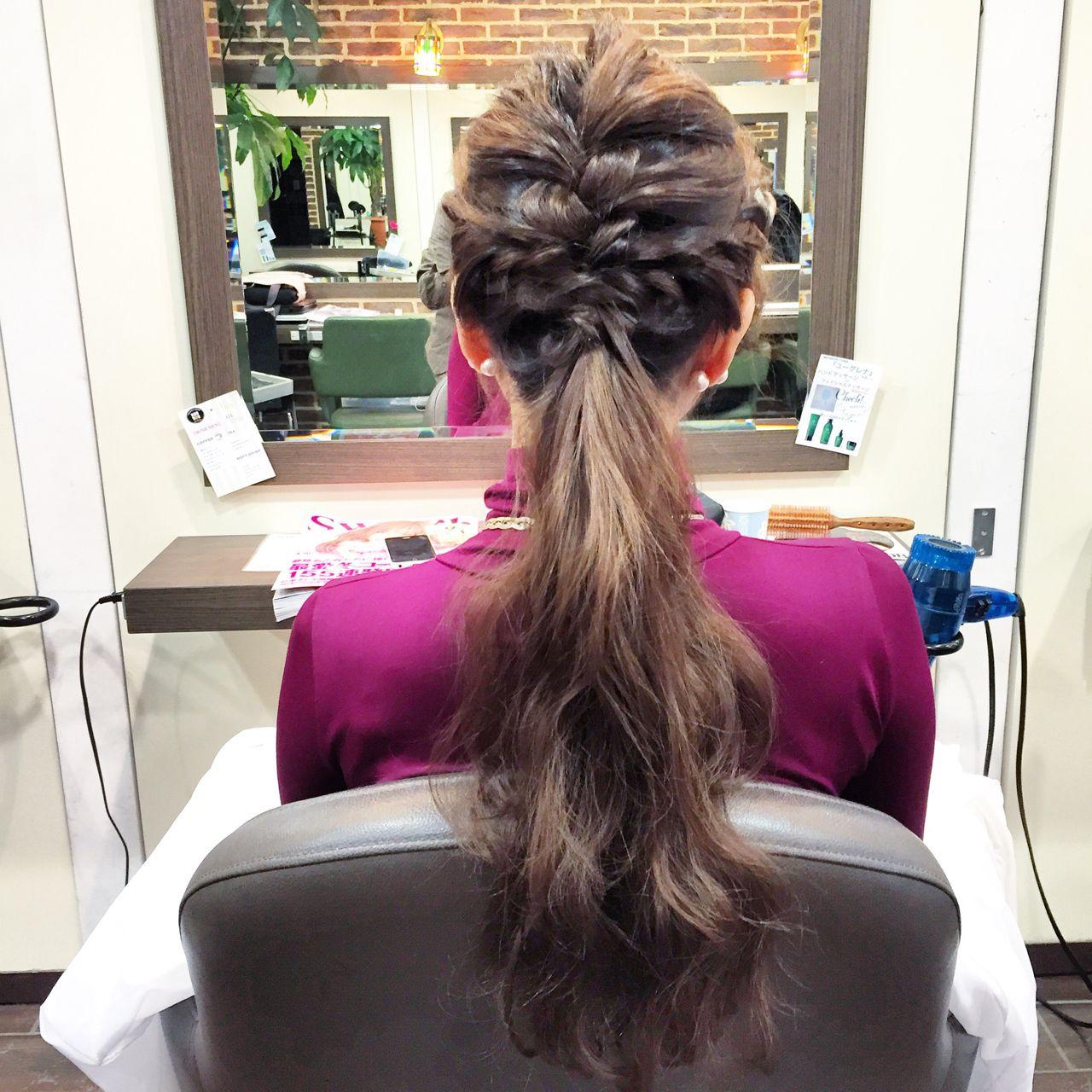 簡単ヘアアレンジ ヘアアレンジ 編み込み ナチュラル ヘアスタイルや髪型の写真・画像