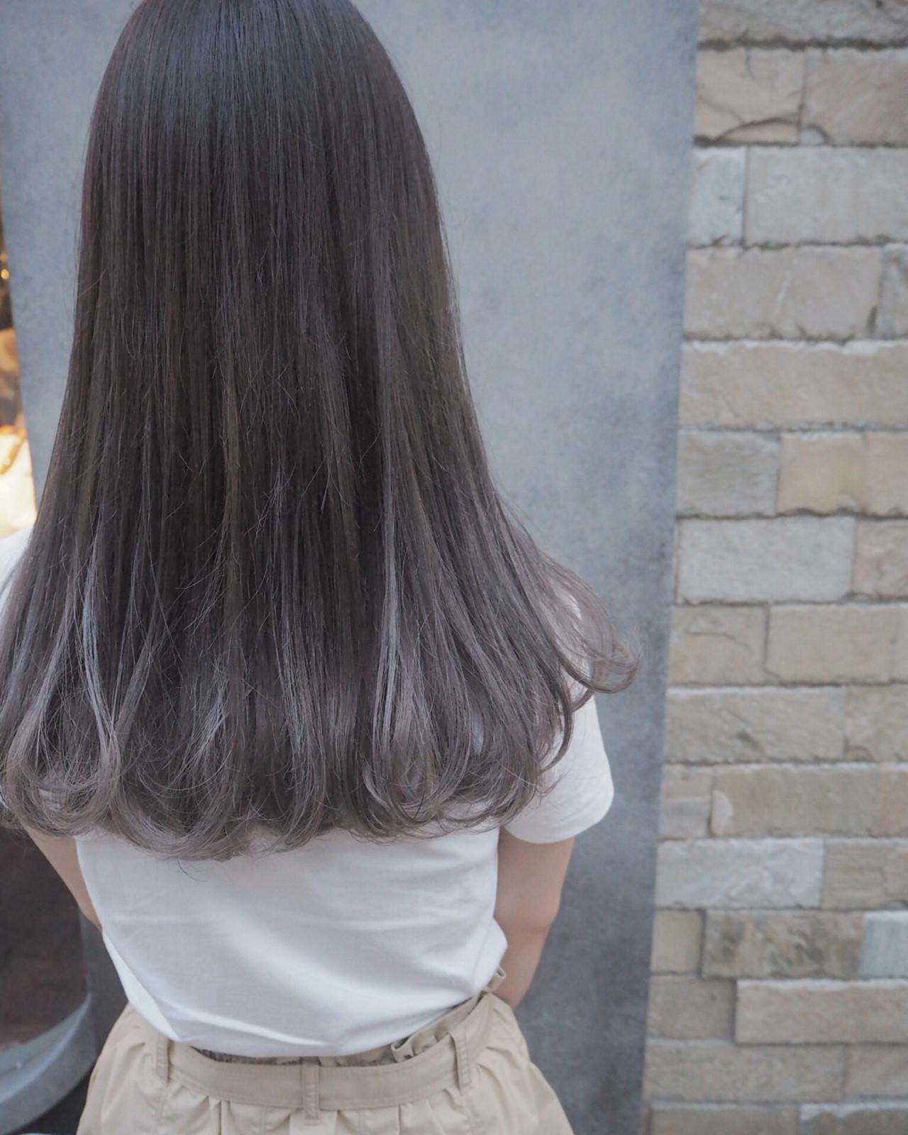 ロング ストリート リラックス グラデーションカラー ヘアスタイルや髪型の写真・画像