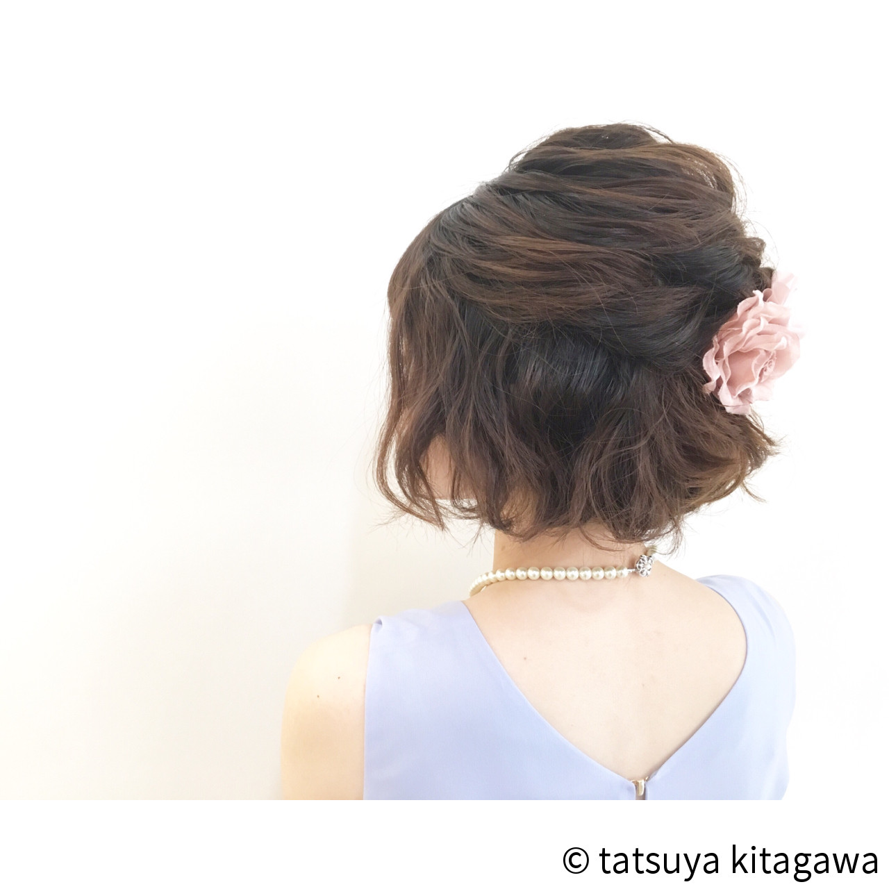 today's hair style☆クラリール . ボブハーフアップ☆ アゴラインボブのパーマ風ふんわりハーフアップ♪ . HAIR: @ta2tatsu