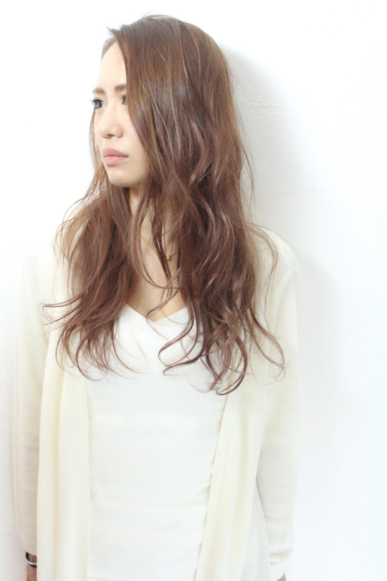 透明感 大人女子 パーマ 外国人風 ヘアスタイルや髪型の写真・画像