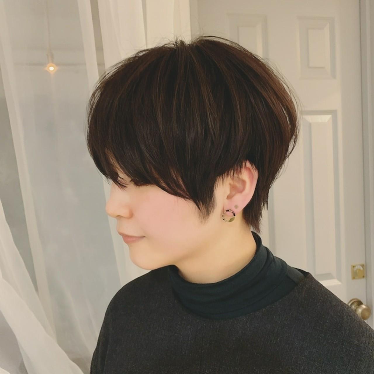 モード ショート 黒髪 ショートヘア ヘアスタイルや髪型の写真・画像 | 浦川由起江 / nanon