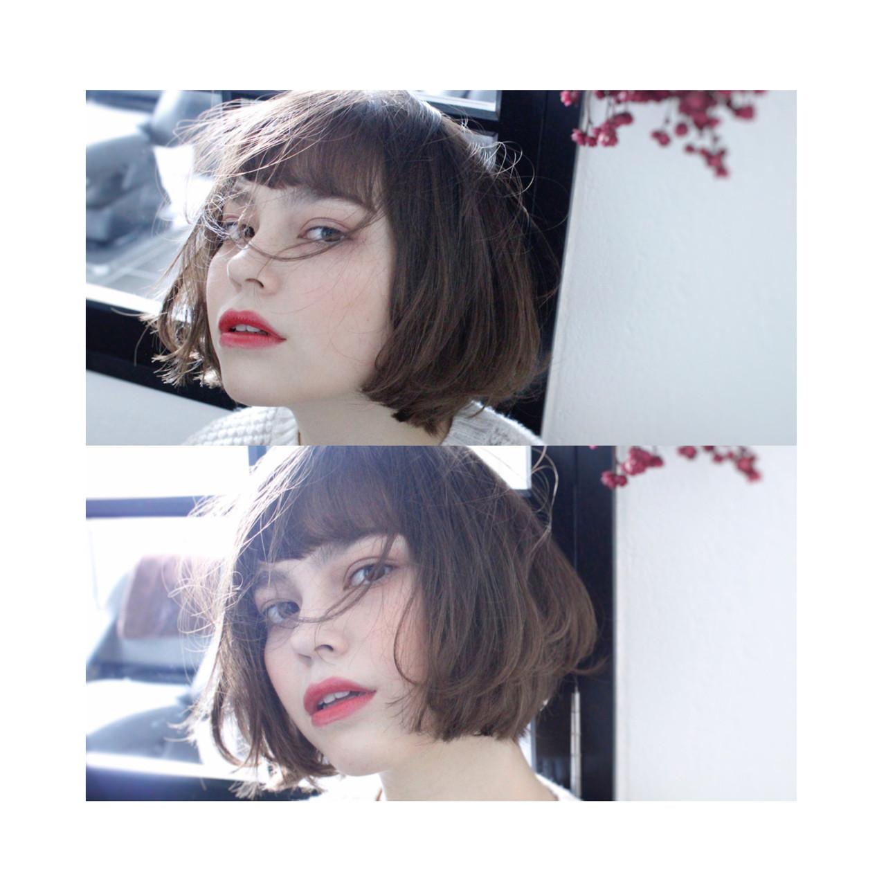 小顔 ハイライト 大人女子 外国人風 ヘアスタイルや髪型の写真・画像