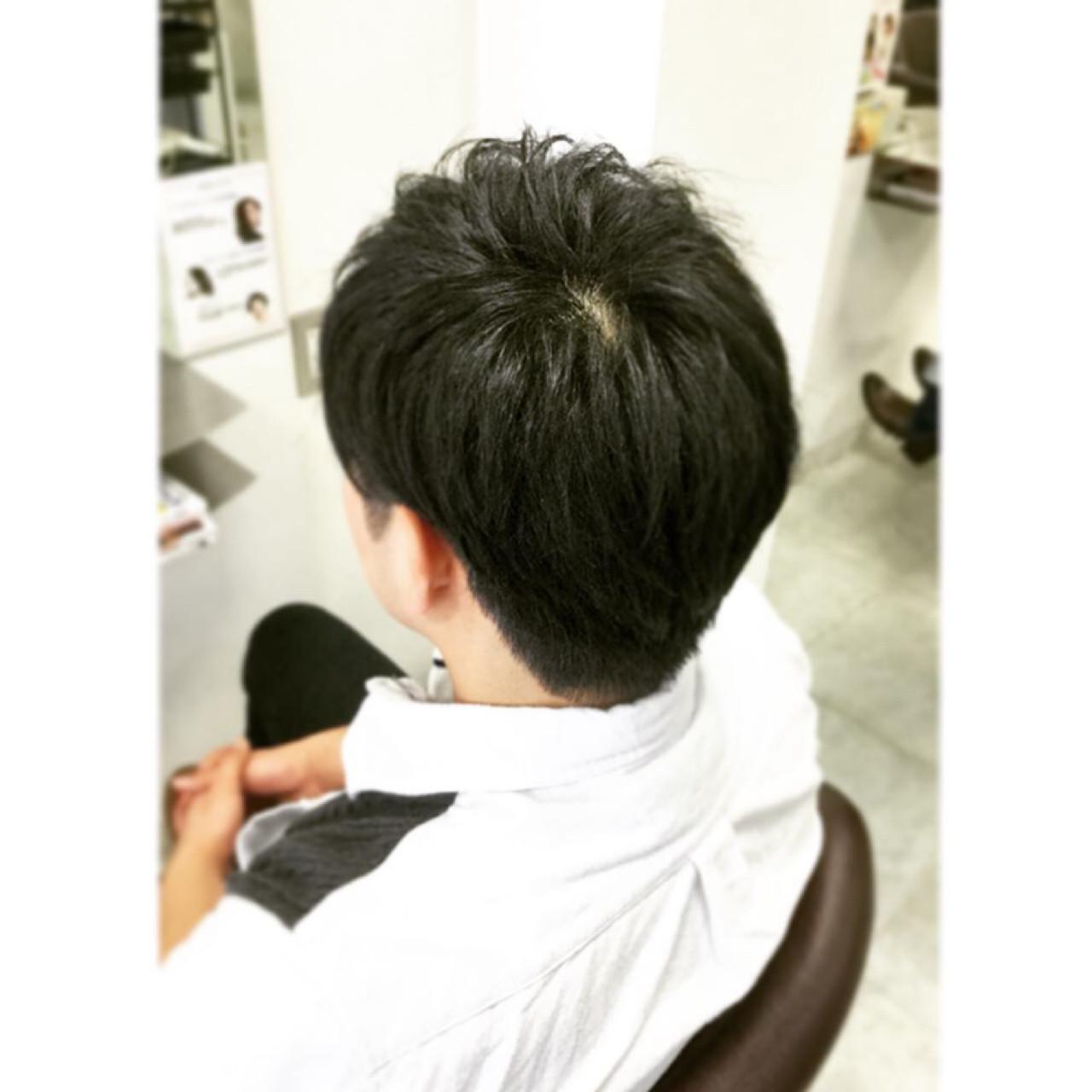 ボーイッシュ ショート 黒髪 坊主 ヘアスタイルや髪型の写真・画像