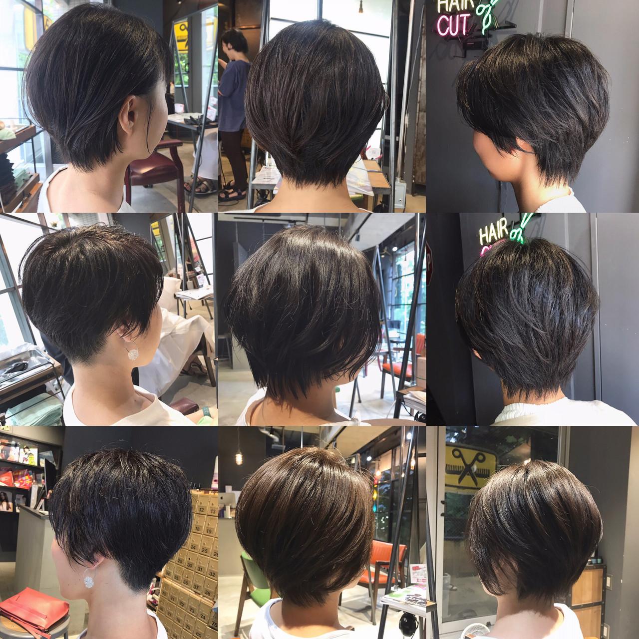 ハンサムショート oggiotto 前下がりショート ナチュラル ヘアスタイルや髪型の写真・画像 | Nakaji. / ensue