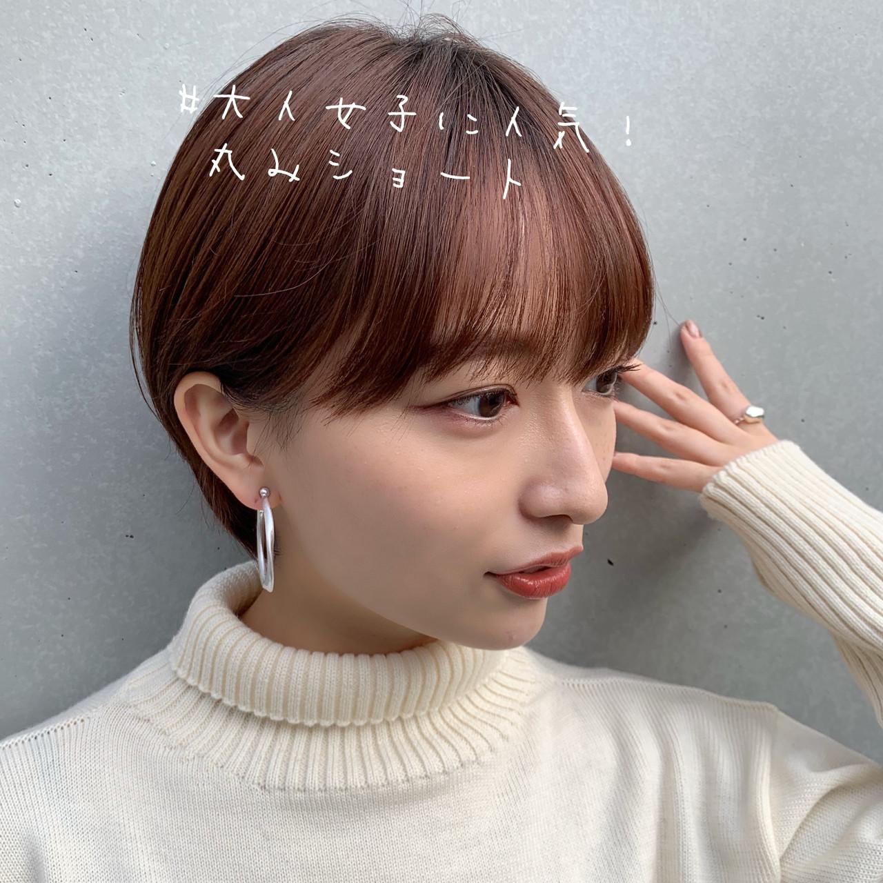 ショートボブ 切りっぱなしボブ ナチュラル ショート ヘアスタイルや髪型の写真・画像 | Natsuko Kodama 児玉奈都子 / dydi