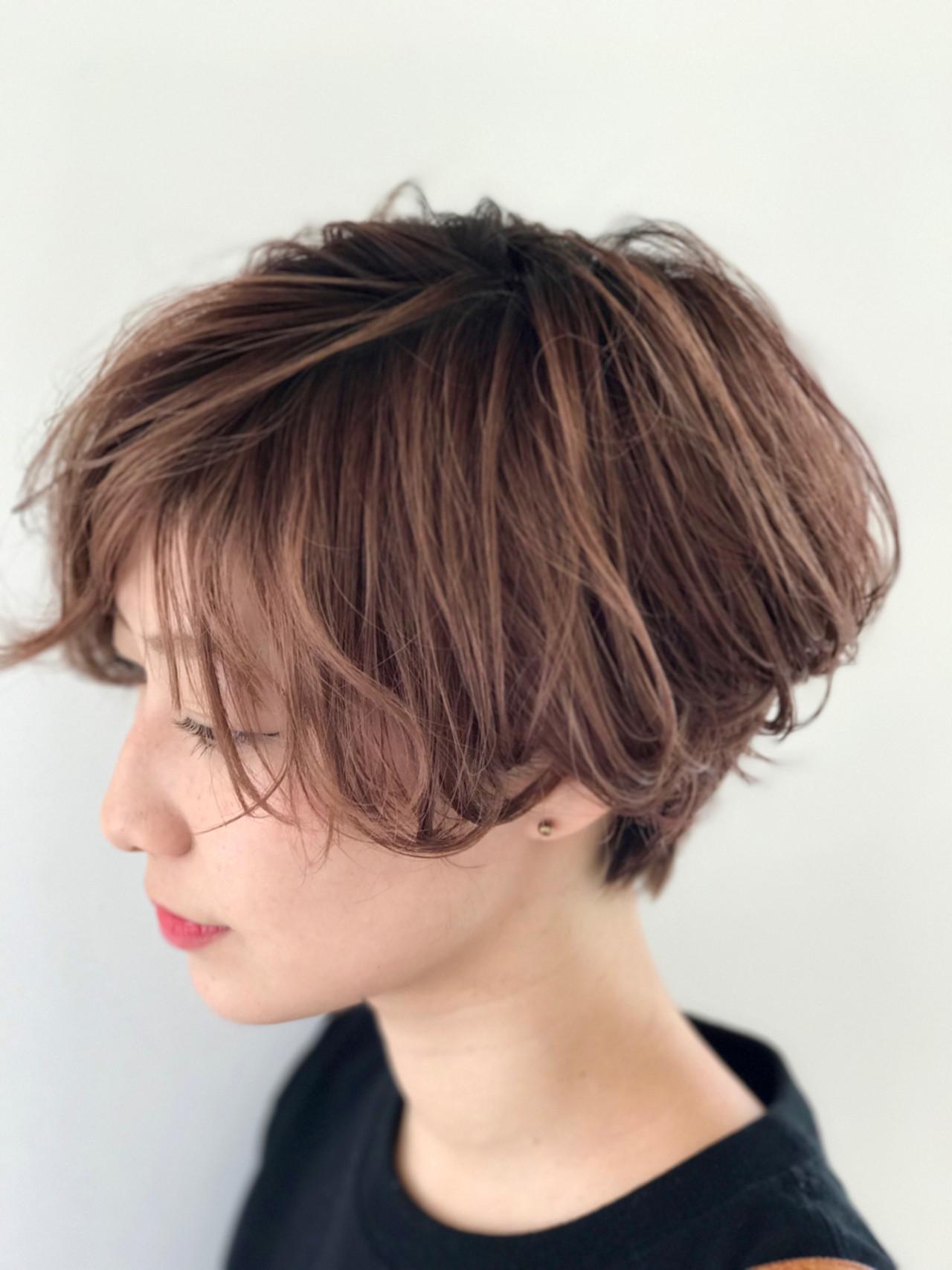 ヘアアレンジ デート 大人かわいい ショート ヘアスタイルや髪型の写真・画像 | 戸井田真幸 / cercle