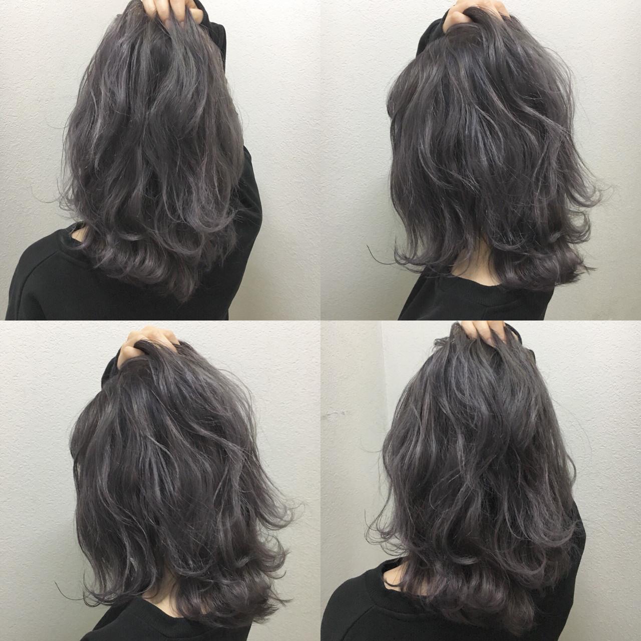 アッシュグレージュ 暗髪 外ハネ ナチュラル ヘアスタイルや髪型の写真・画像 | TAKA / cecil hair 河原町店