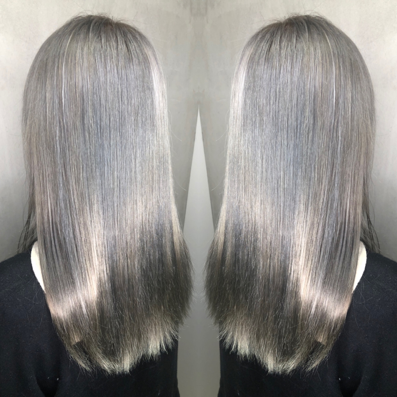ストリート グレージュ ロング 外国人風カラー ヘアスタイルや髪型の写真・画像