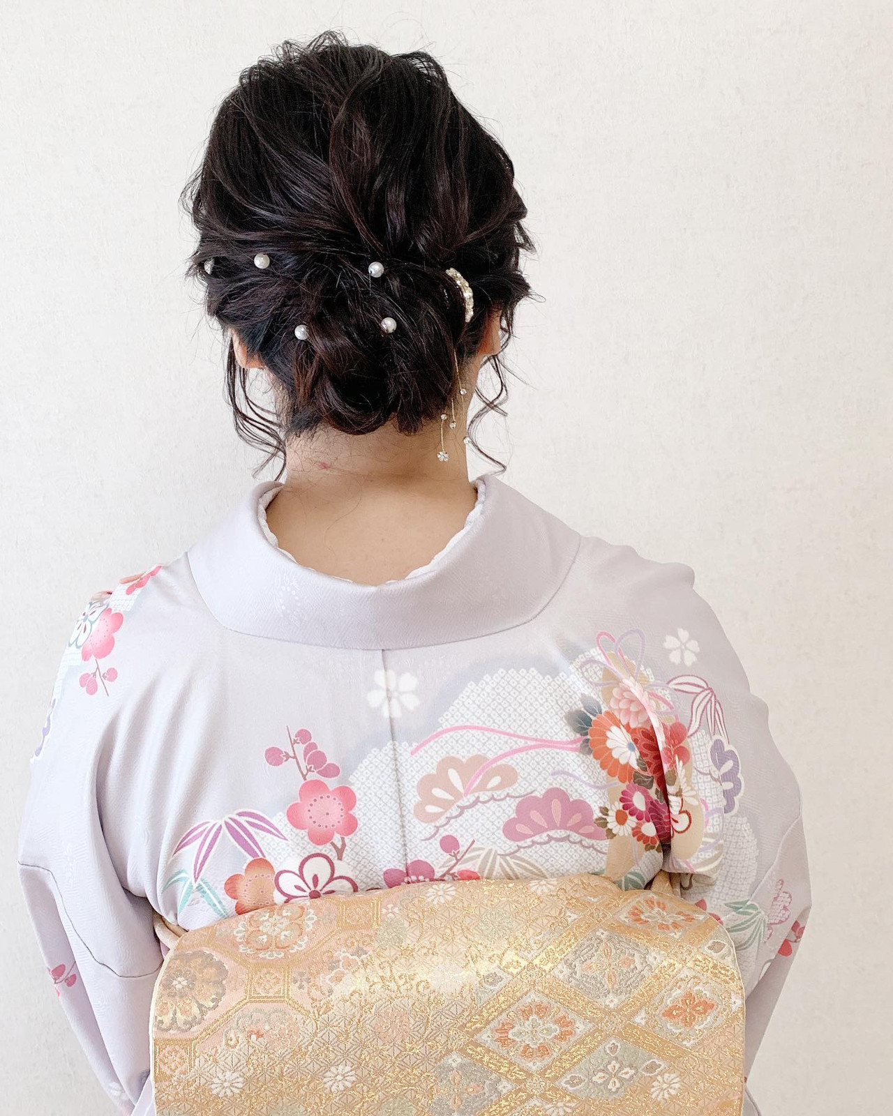 着物 訪問着 アップスタイル 結婚式 ヘアスタイルや髪型の写真・画像