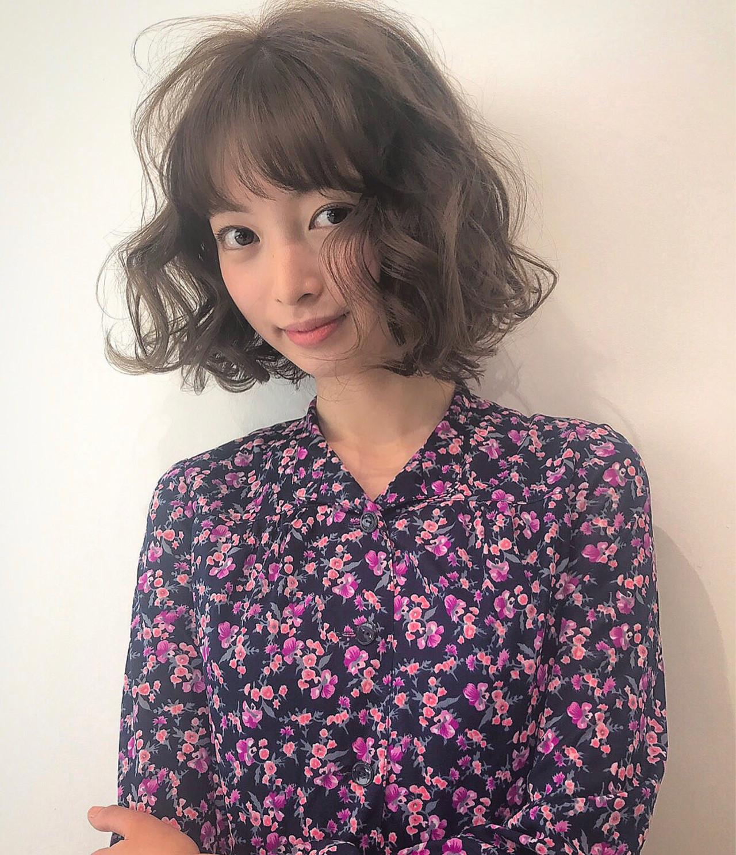 ニュアンス パーマ ボブ 外国人風 ヘアスタイルや髪型の写真・画像 | 【SHIMA】モチナガヤスヒロ / SHIMA daikanyama