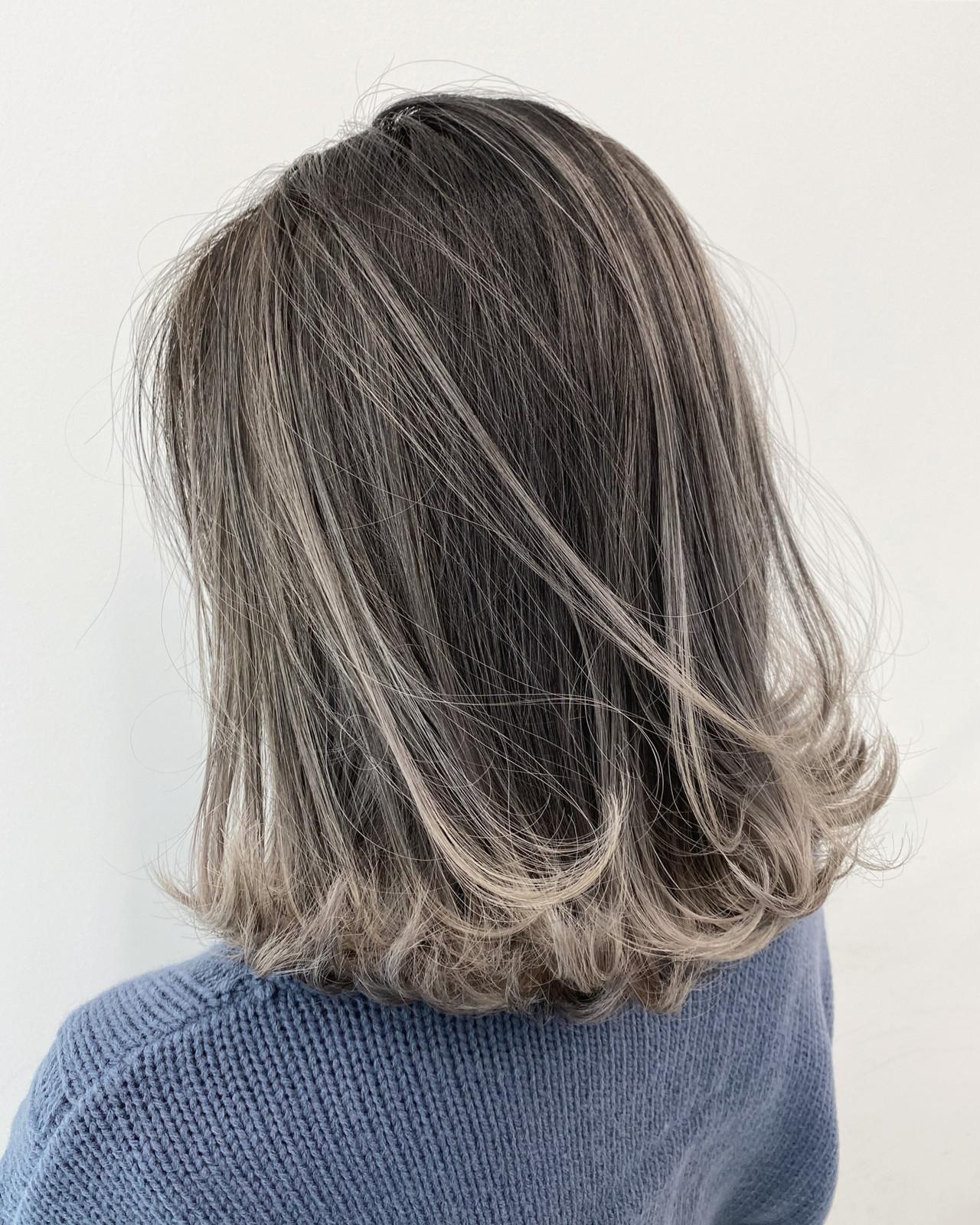 ストリート グレージュ ボブ グラデーションカラー ヘアスタイルや髪型の写真・画像   白土 諒 ALIVE kichijoji 店長 / ALIVE kichijoji