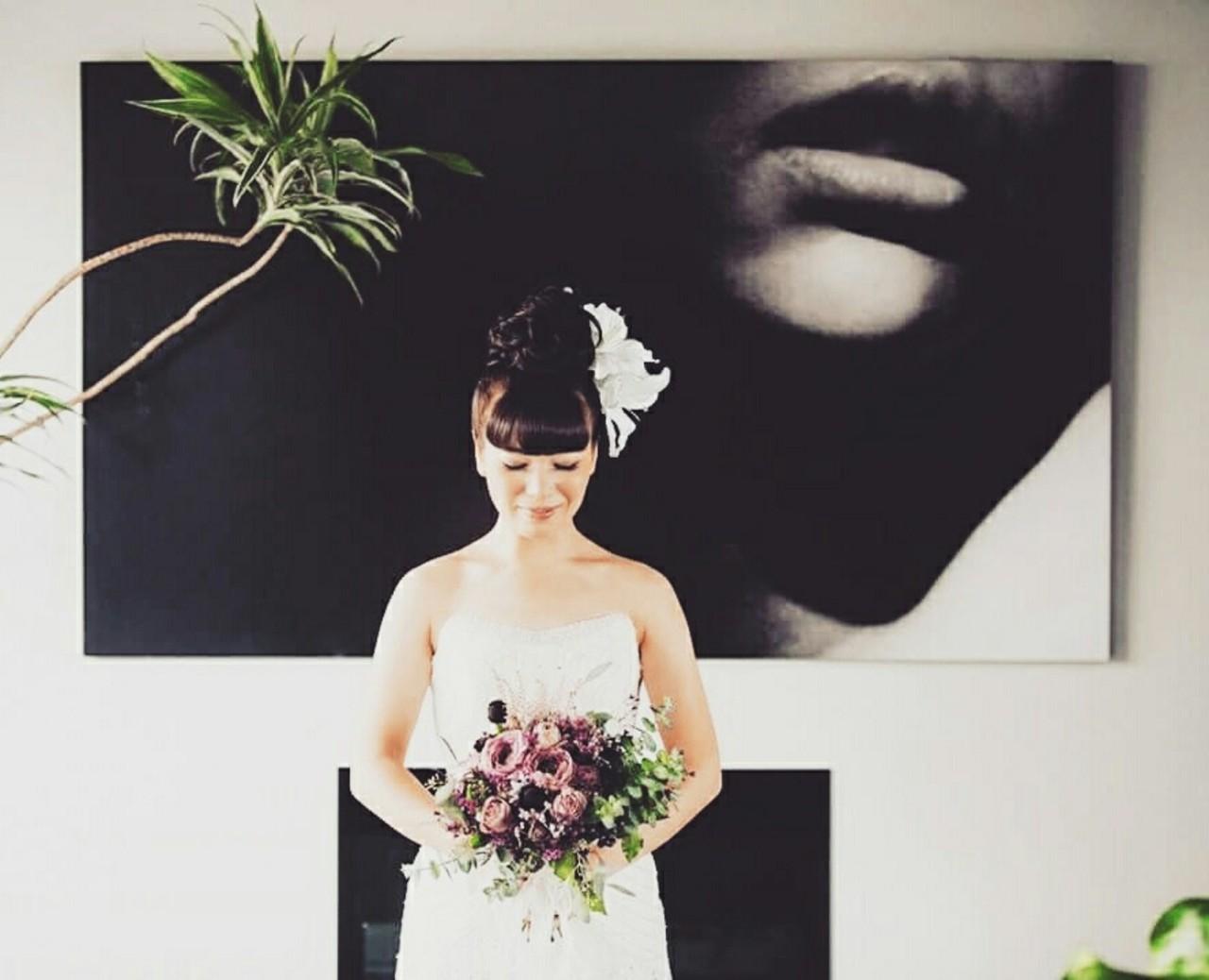 大人かわいい ブライダル ヘアアレンジ 結婚式 ヘアスタイルや髪型の写真・画像