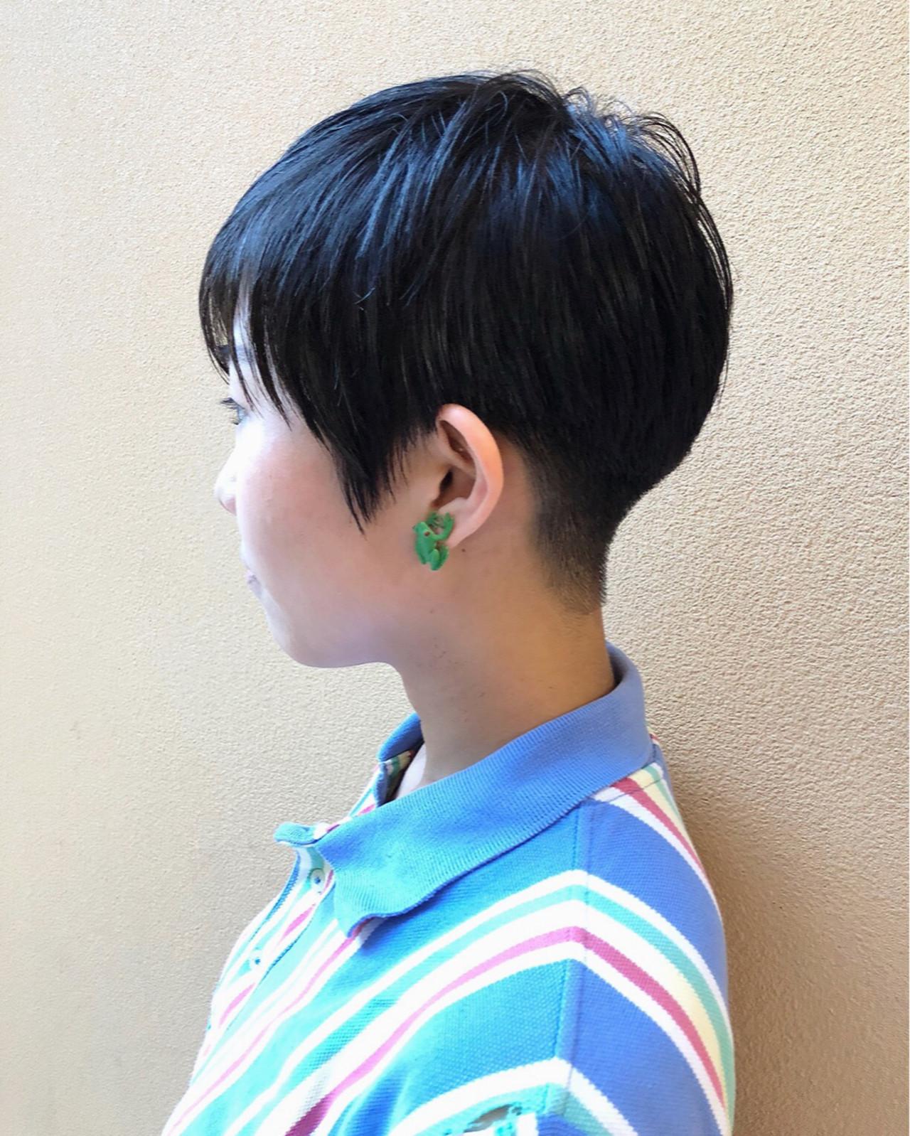 刈り上げ 大人女子 ベリーショート 小顔 ヘアスタイルや髪型の写真・画像   イシガキ ダイスケ / C-LOVe 中目黒