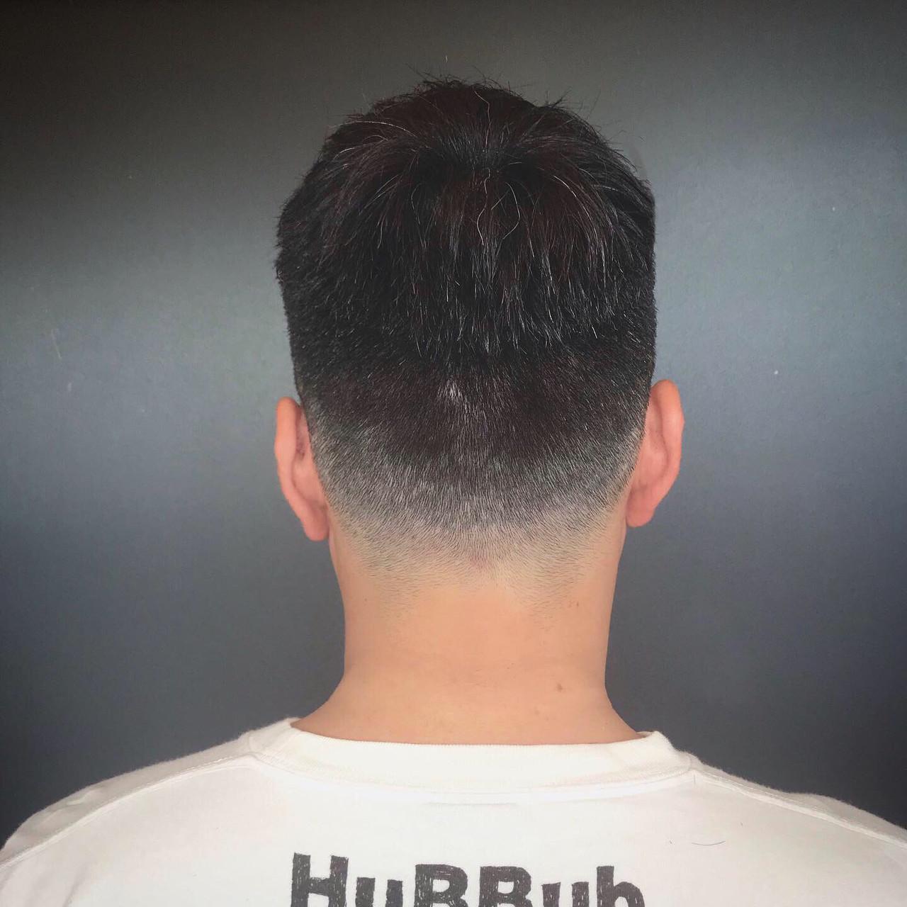 ストリート スポーツ フェードカット スキンフェード ヘアスタイルや髪型の写真・画像