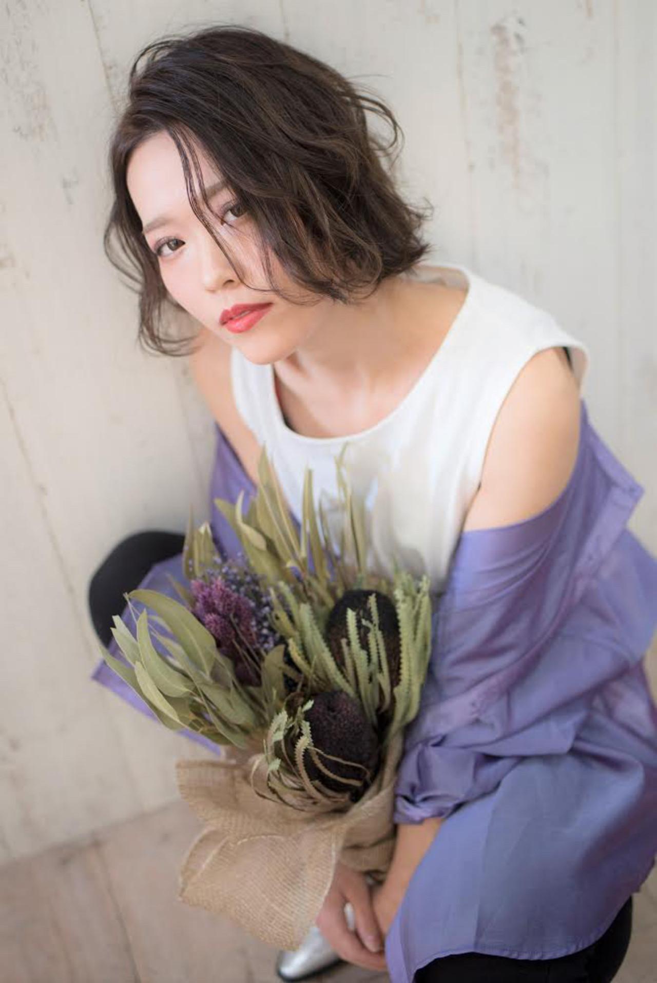 ボブ 切りっぱなしボブ ショートボブ ミニボブ ヘアスタイルや髪型の写真・画像 | PSYCHE KOZENI YUKO / psyche    大阪   /  中崎町 /  梅田