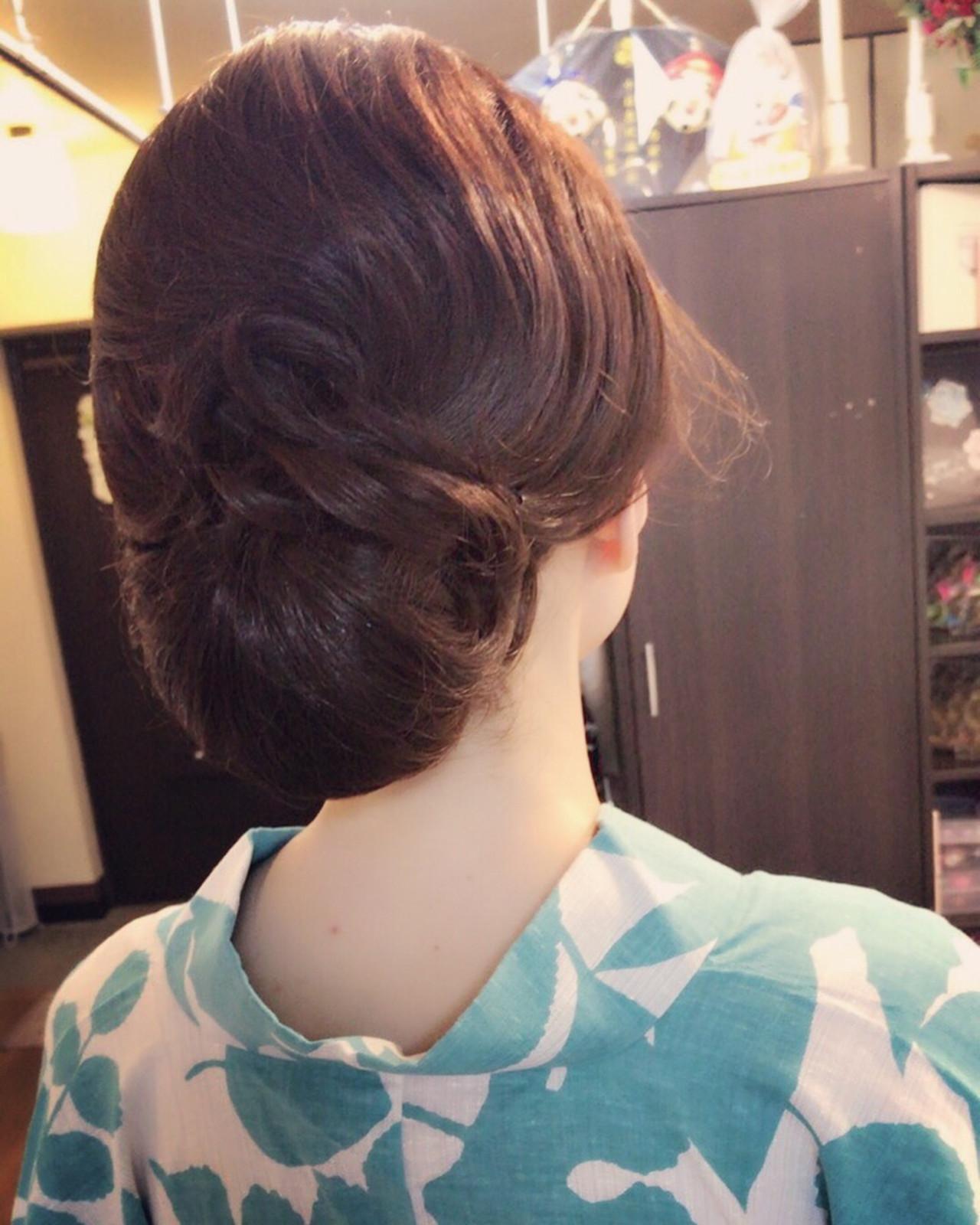 エレガント 夏 デート 上品 ヘアスタイルや髪型の写真・画像 | Moriyama Mami / 福岡天神ヘアセット・着付け専門店【Three-keys】