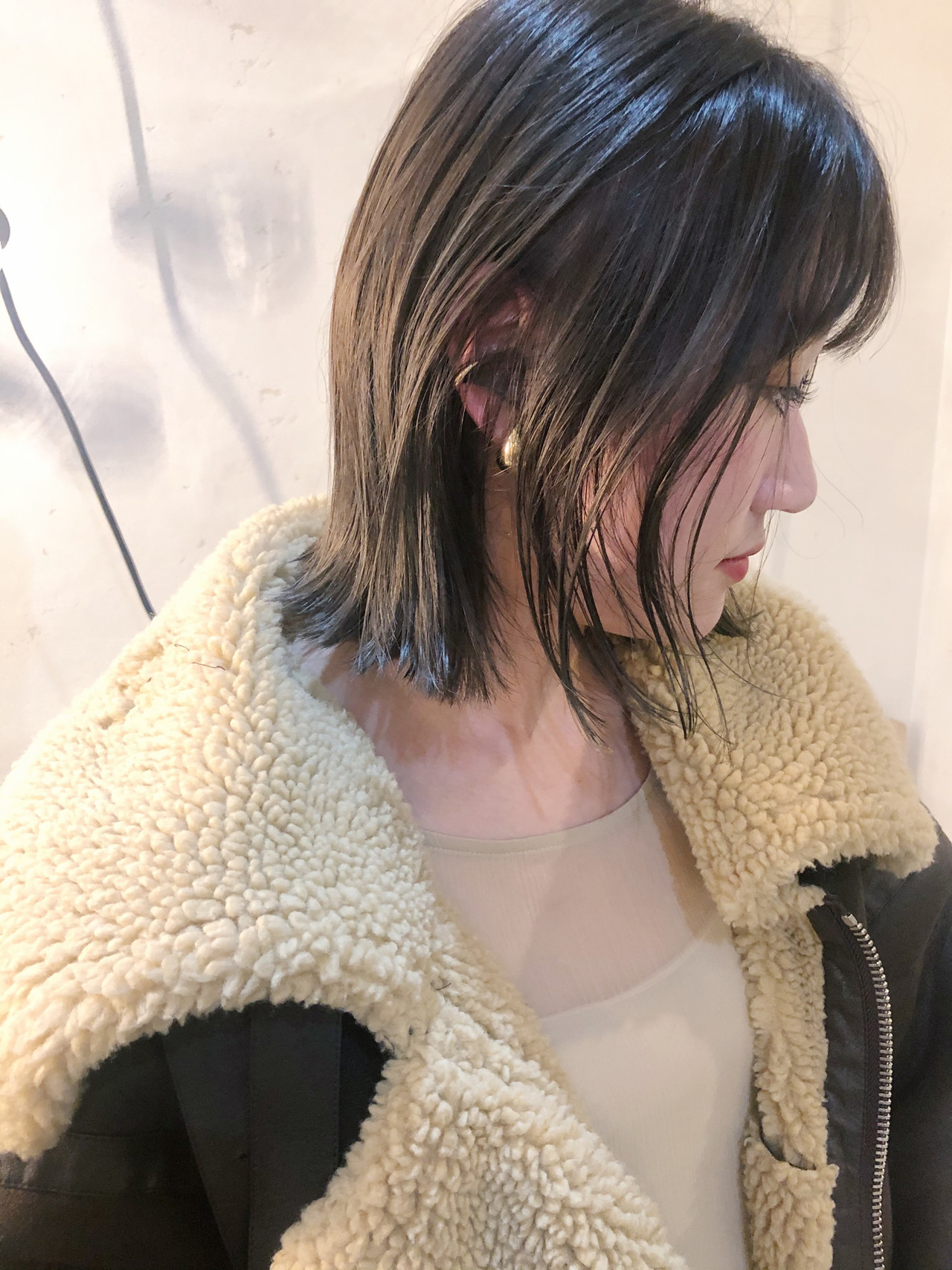 切りっぱなしボブ ボブ 大人かわいい ショートボブ ヘアスタイルや髪型の写真・画像   原木翔太 / lufun hair design  ルファン