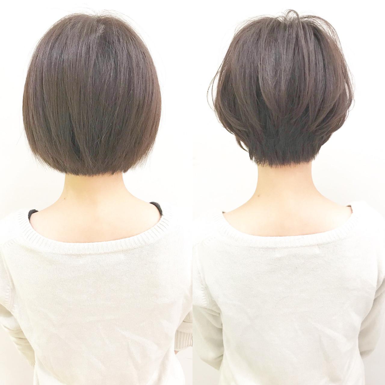 ショート パーマ 黒髪 アウトドア ヘアスタイルや髪型の写真・画像