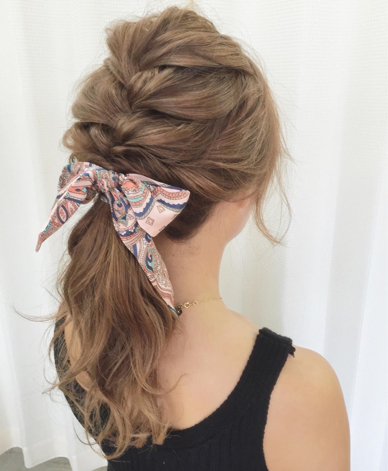 ルーズ アップスタイル 夏 編み込み ヘアスタイルや髪型の写真・画像