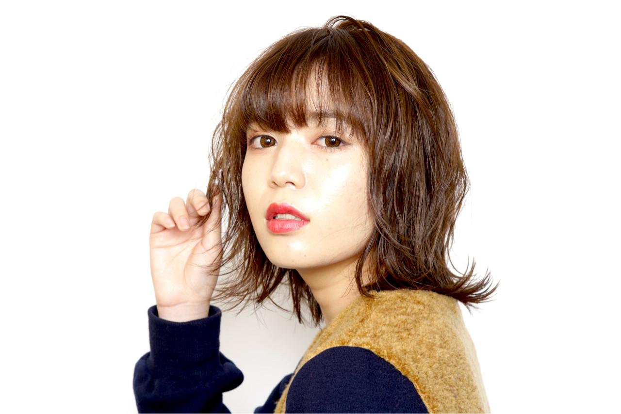 外国人風 外国人風カラー ナチュラル 丸顔 ヘアスタイルや髪型の写真・画像
