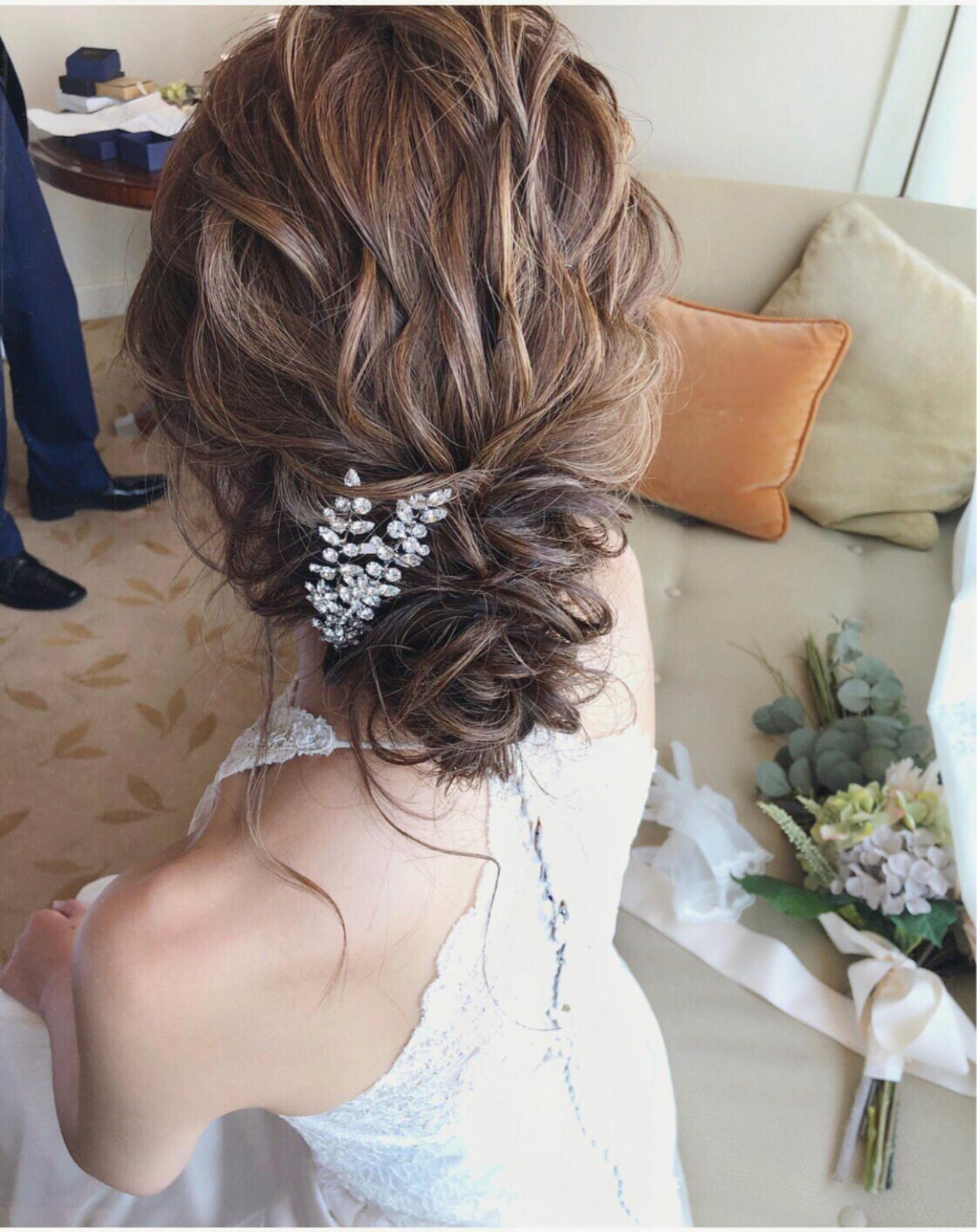 結婚式 ナチュラル 大人女子 パーティ ヘアスタイルや髪型の写真・画像