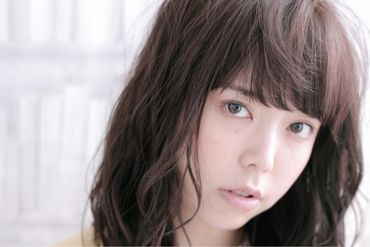 ゆるふわ アッシュ 前髪あり セミロング ヘアスタイルや髪型の写真・画像 | TAKAHITO / HAIR DERA'S (デラ)