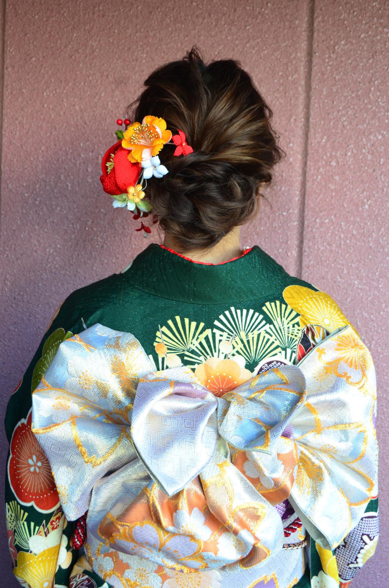 セミロング 結婚式 ナチュラル 簡単ヘアアレンジ ヘアスタイルや髪型の写真・画像 | 生田浩明 / hair make cronos