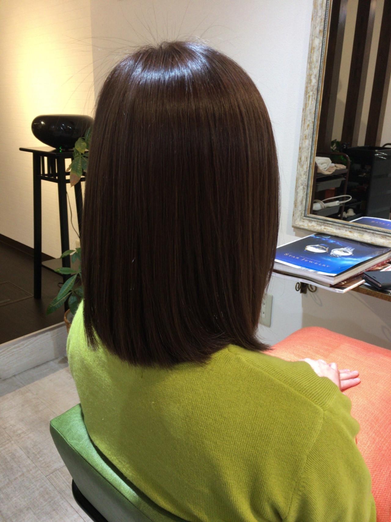 暗髪 アッシュ ナチュラル ハイライト ヘアスタイルや髪型の写真・画像