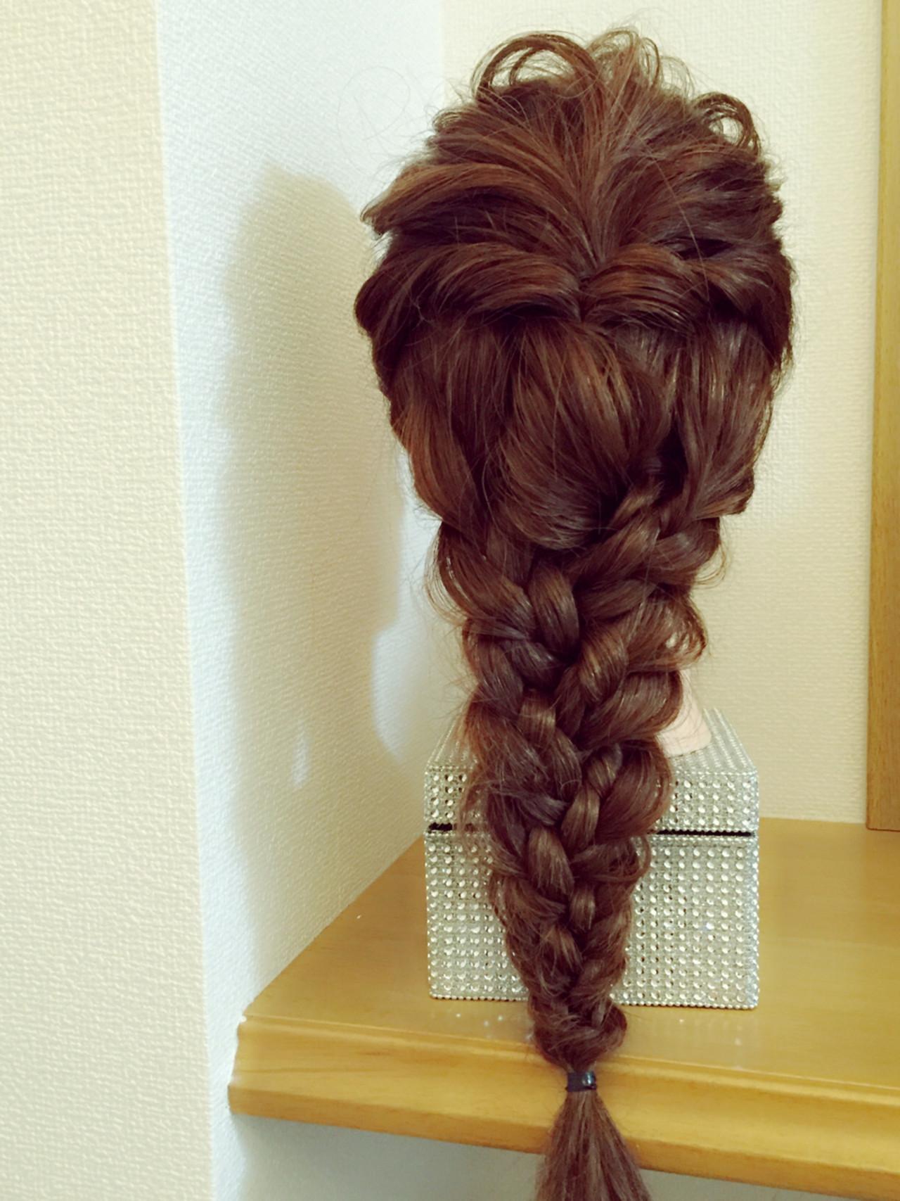 三つ編み 大人かわいい ロング ショート ヘアスタイルや髪型の写真・画像 | mai / etana