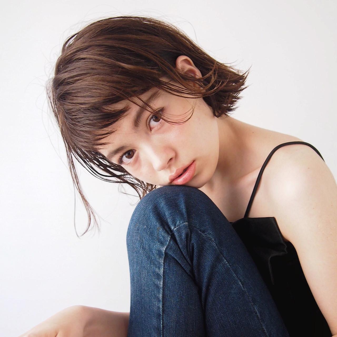 ハンサム ナチュラル かっこいい 女子会 ヘアスタイルや髪型の写真・画像