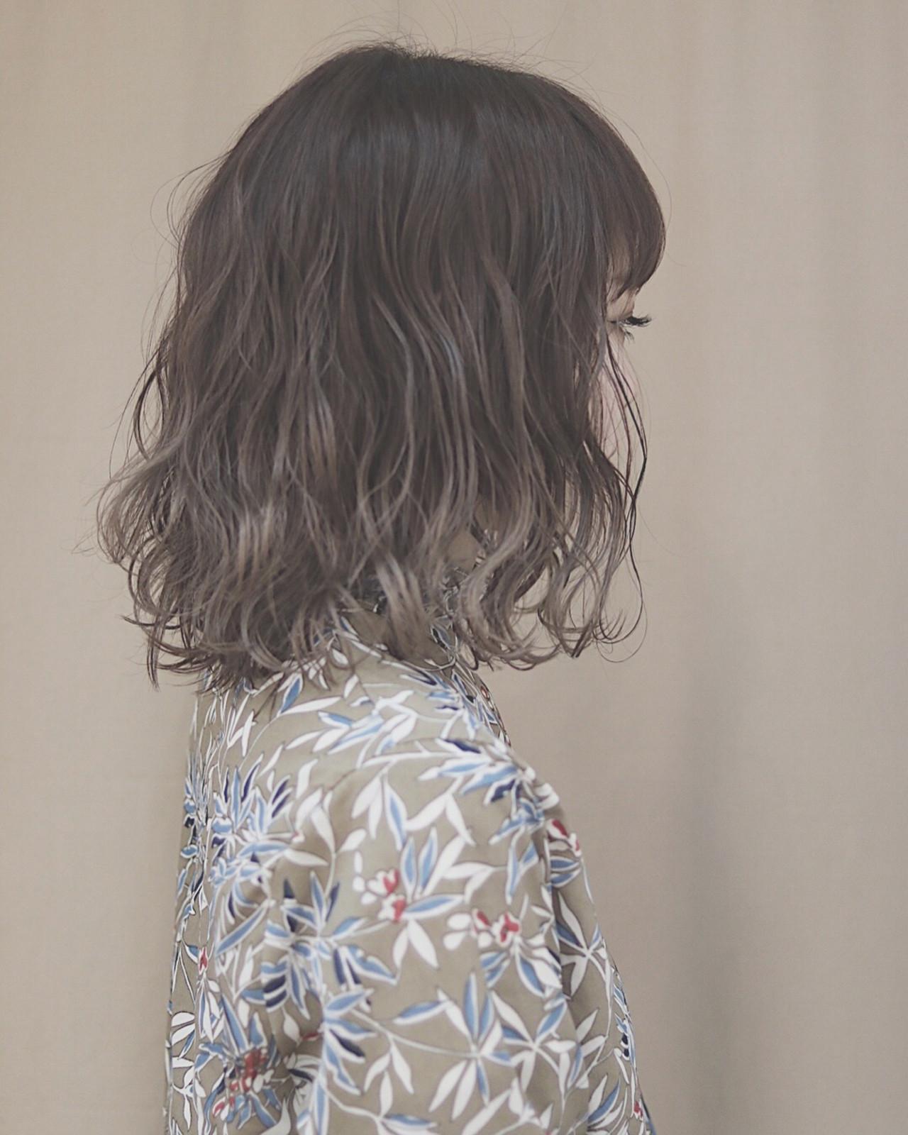 ナチュラル デート ボブ オルチャン ヘアスタイルや髪型の写真・画像