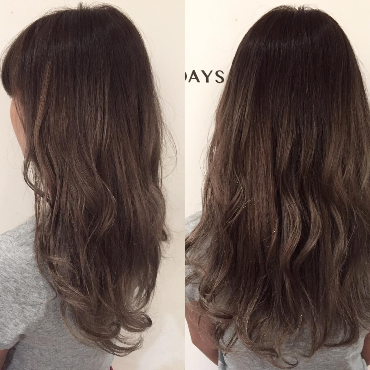 アッシュグレージュ 外国人風 ハイライト ハイトーン ヘアスタイルや髪型の写真・画像   ナベ / EIGHT hair salon