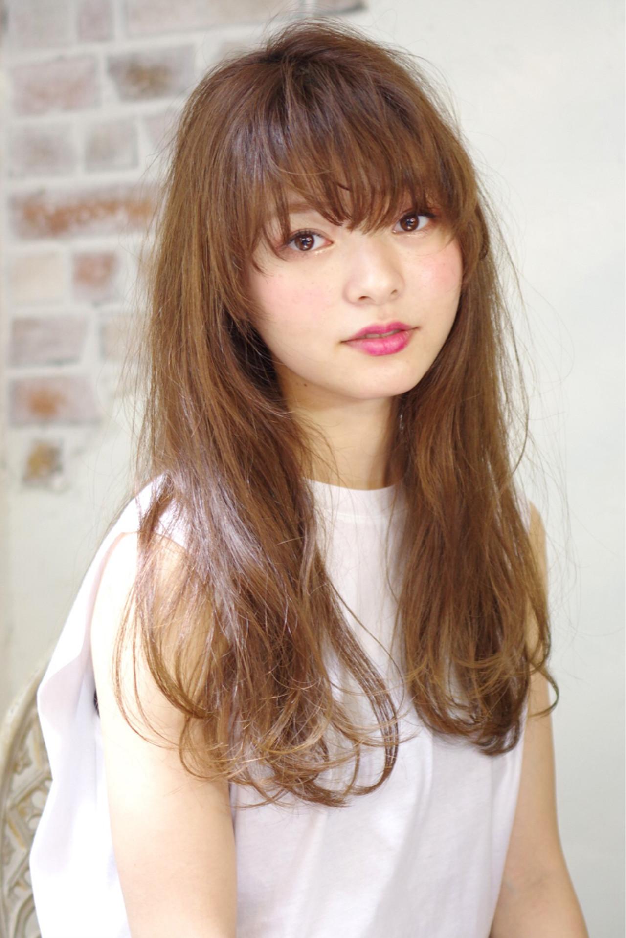 外国人風 前髪あり ロング ナチュラル ヘアスタイルや髪型の写真・画像 | 西川 賢一 blast / blast