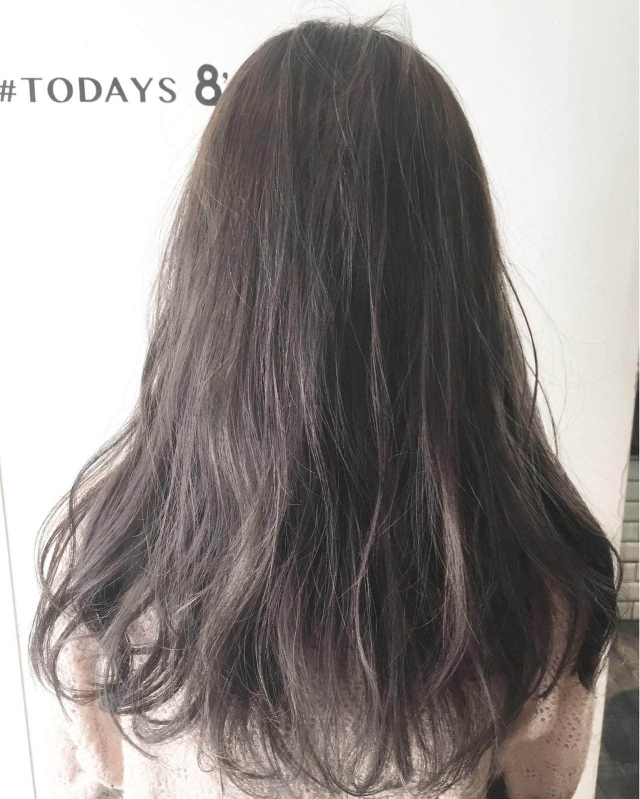 外国人風 アッシュ ハイライト オリーブアッシュ ヘアスタイルや髪型の写真・画像 | ナベ / EIGHT hair salon