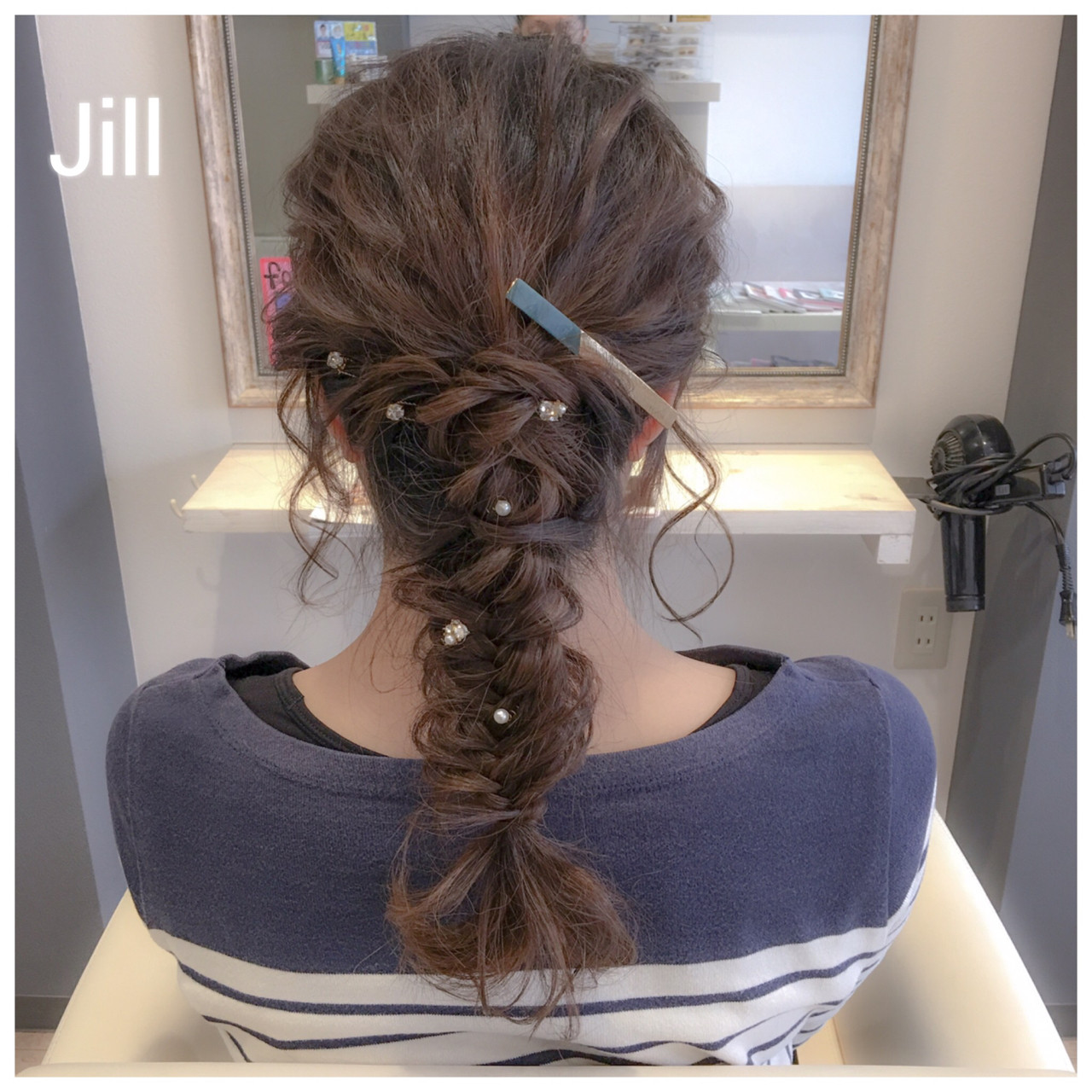 簡単ヘアアレンジ ヘアアレンジ フェミニン フィッシュボーン ヘアスタイルや髪型の写真・画像 | 花房 佑典 / Jill / Hair Design Jill
