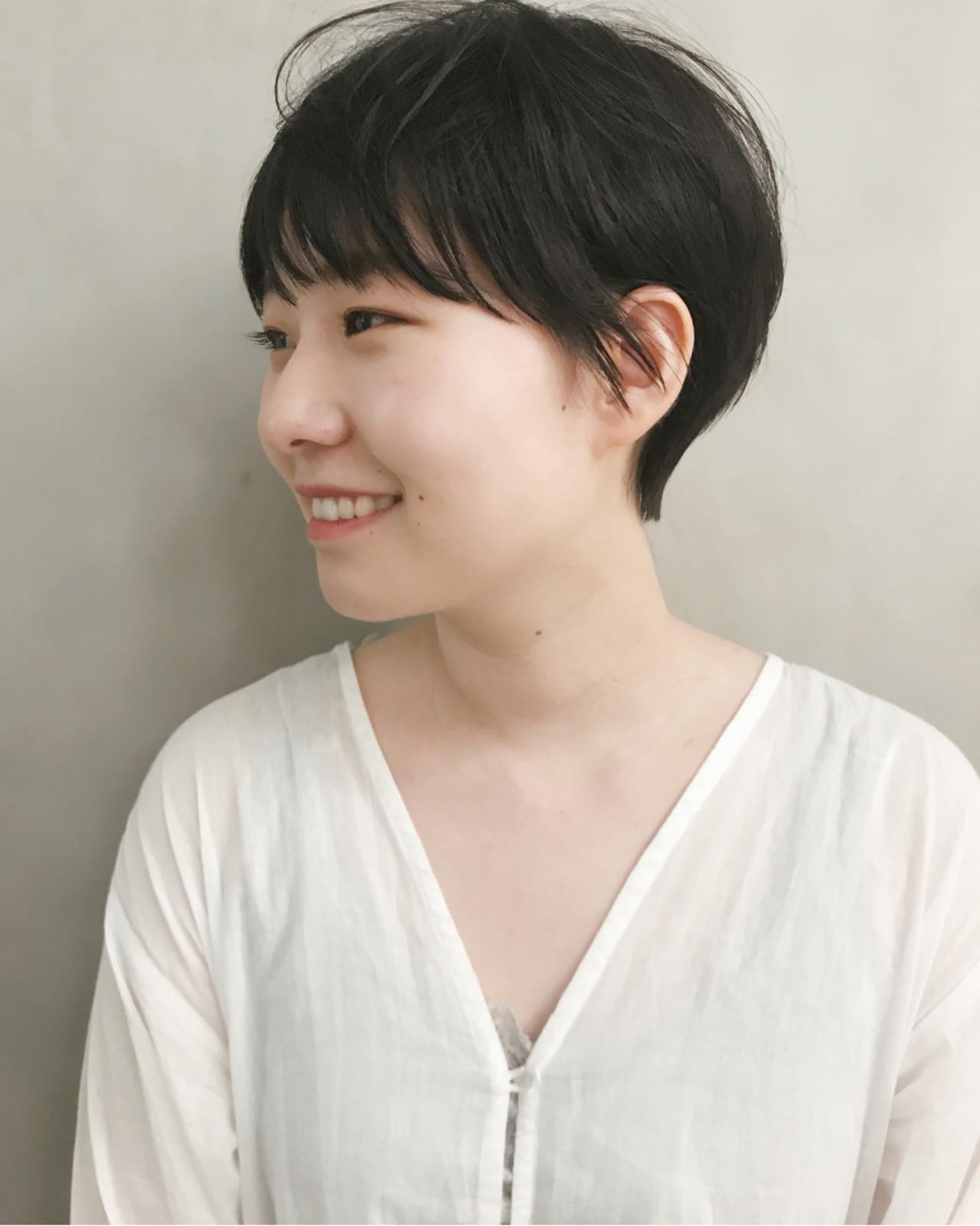 ナチュラル 黒髪 ショート ヘアスタイルや髪型の写真・画像 | 仙頭郁弥 / LIM+LIM