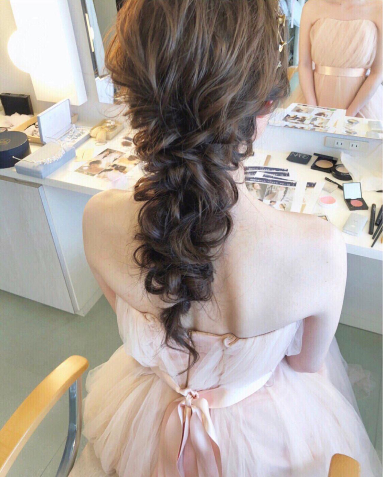 結婚式 大人かわいい アンニュイ ヘアアレンジ ヘアスタイルや髪型の写真・画像